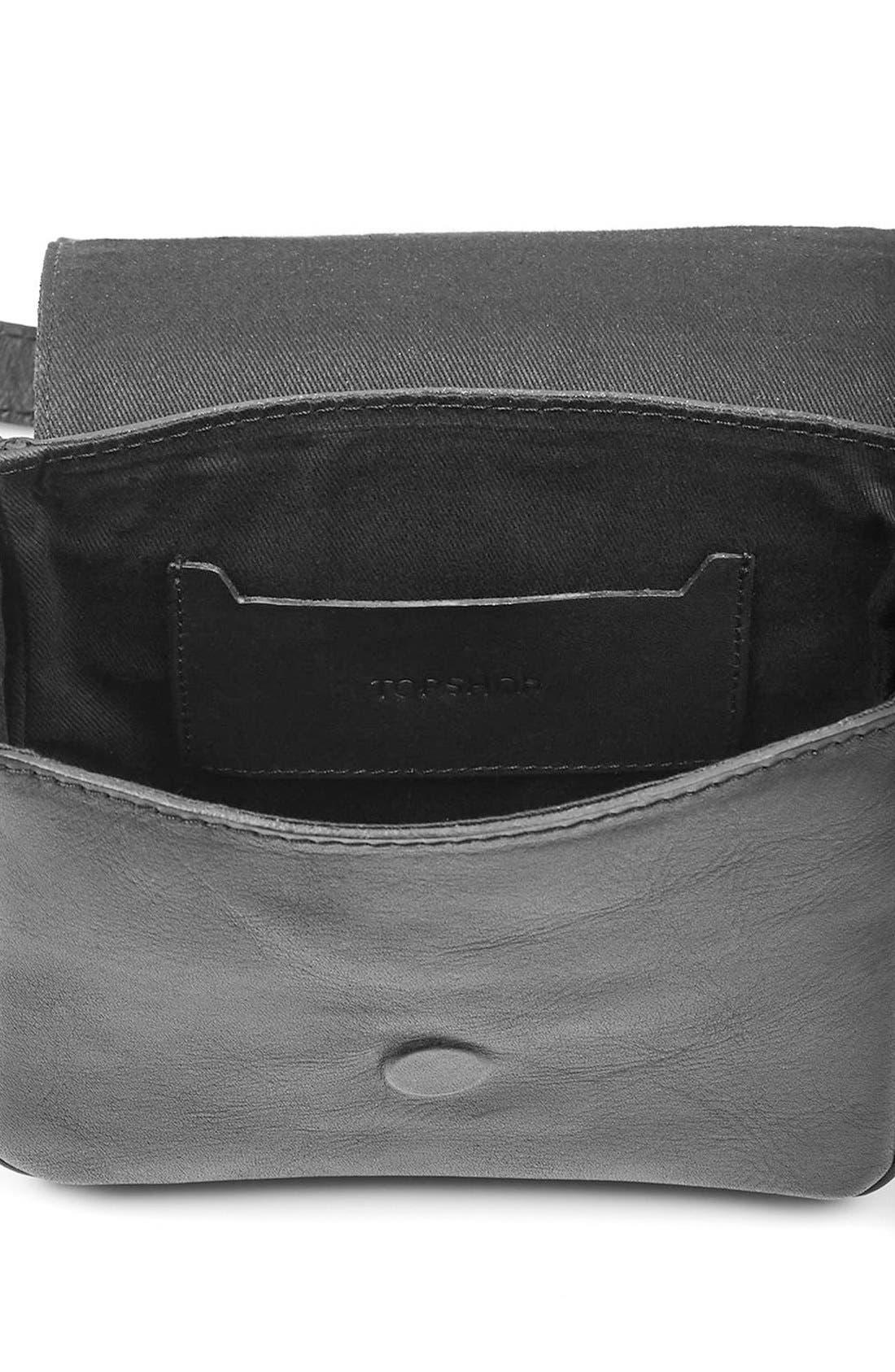Alternate Image 4  - Topshop 'Rodeo' Studded Leather Crossbody Bag