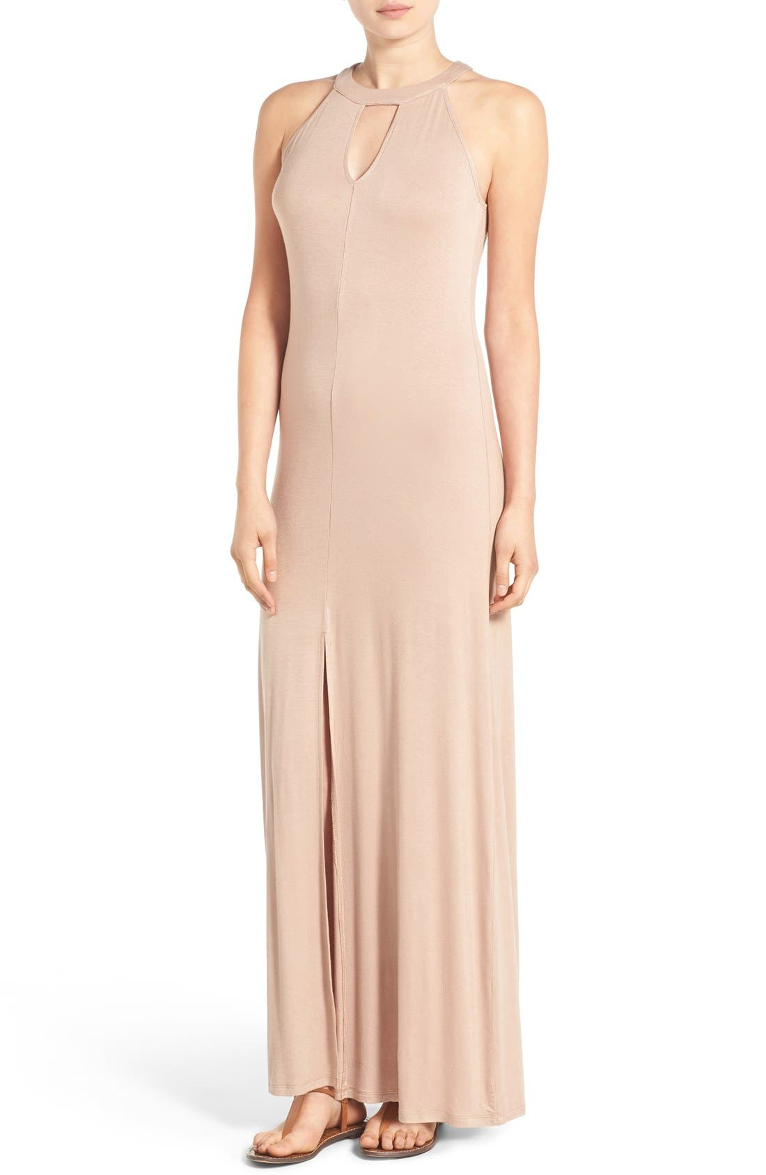 Alternate Image 1 Selected - Mimi Chica High Neck Maxi Dress