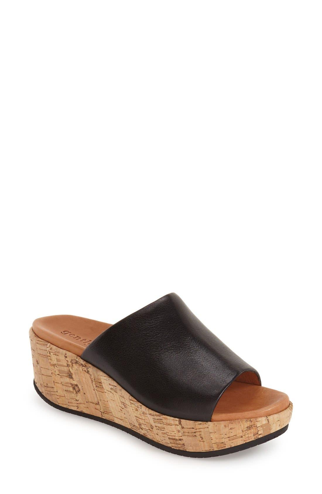 GENTLE SOULS 'Megan' Platform Wedge Sandal