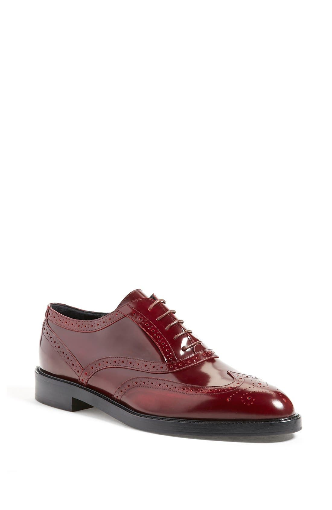 Alternate Image 1 Selected - Burberry 'Gennie' Lace-Up Oxford (Women)