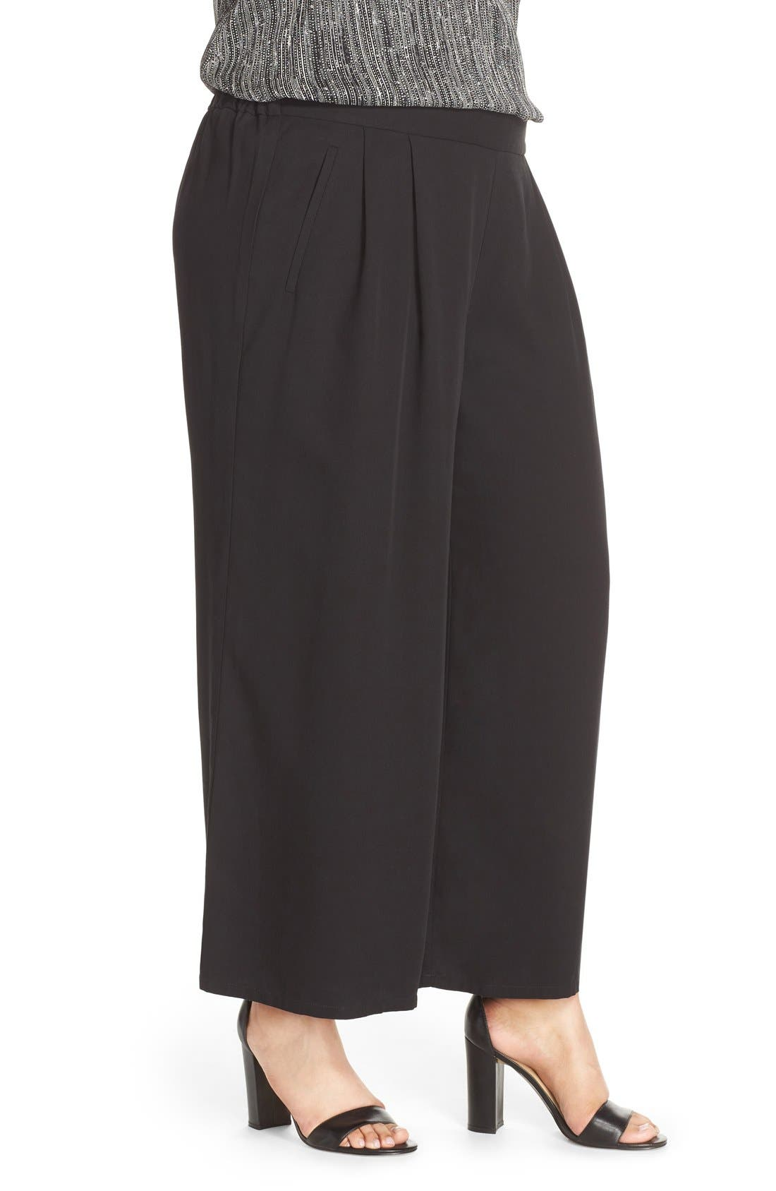 Alternate Image 3  - Eileen Fisher Wide Leg Tencel® Pants (Plus Size)