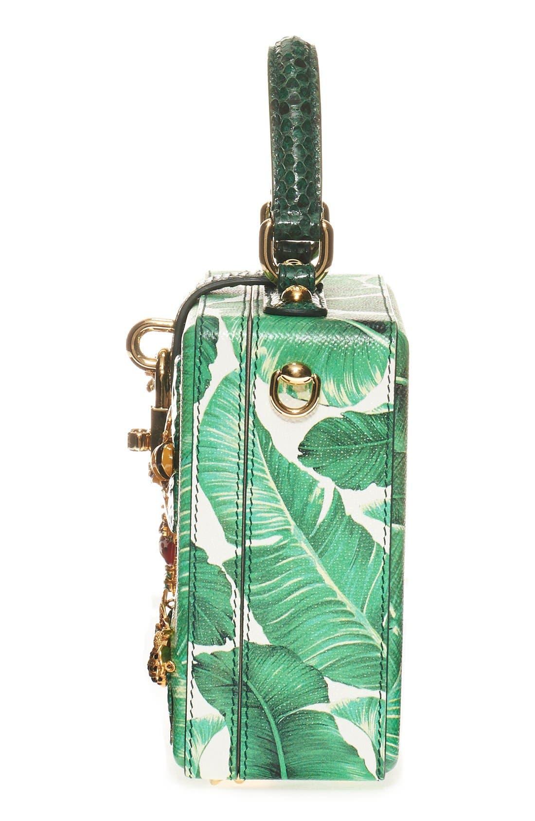 Alternate Image 5  - Dolce&Gabbana 'Banana Leaf' Embellished Leather & Snakeskin Box Bag