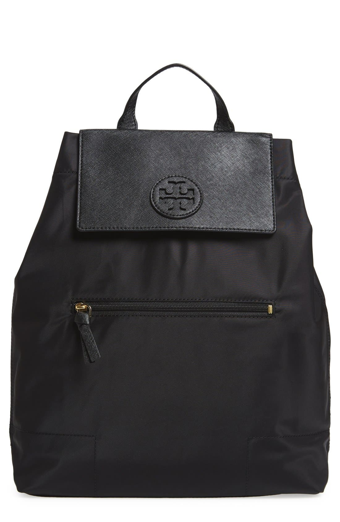 Main Image - Tory Burch 'Ella' Packable Nylon Backpack