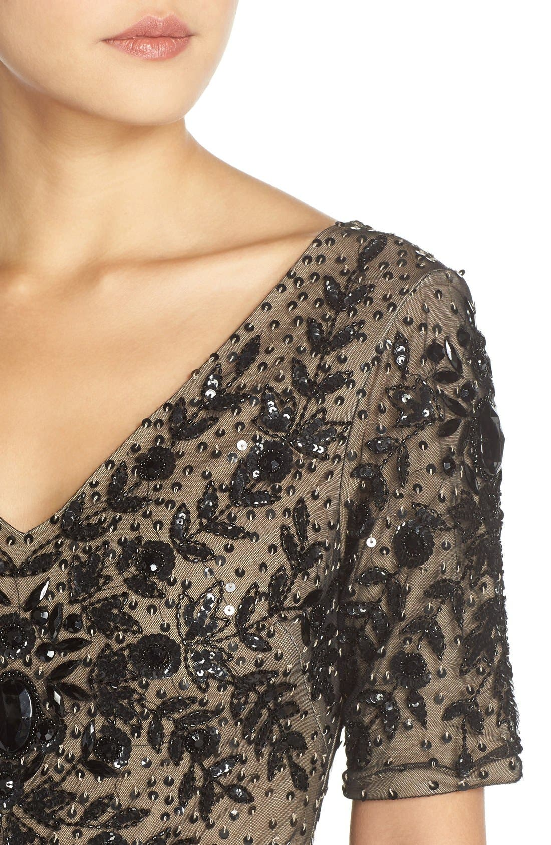 Alternate Image 4  - Adrianna Papell Embellished Mesh Gown