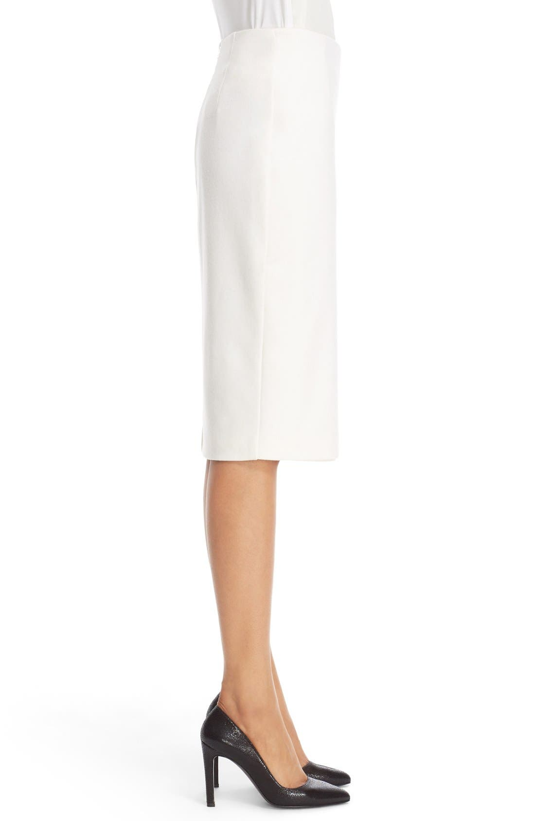 Alternate Image 5  - Max Mara 'Visita' Wool Jersey Pencil Skirt