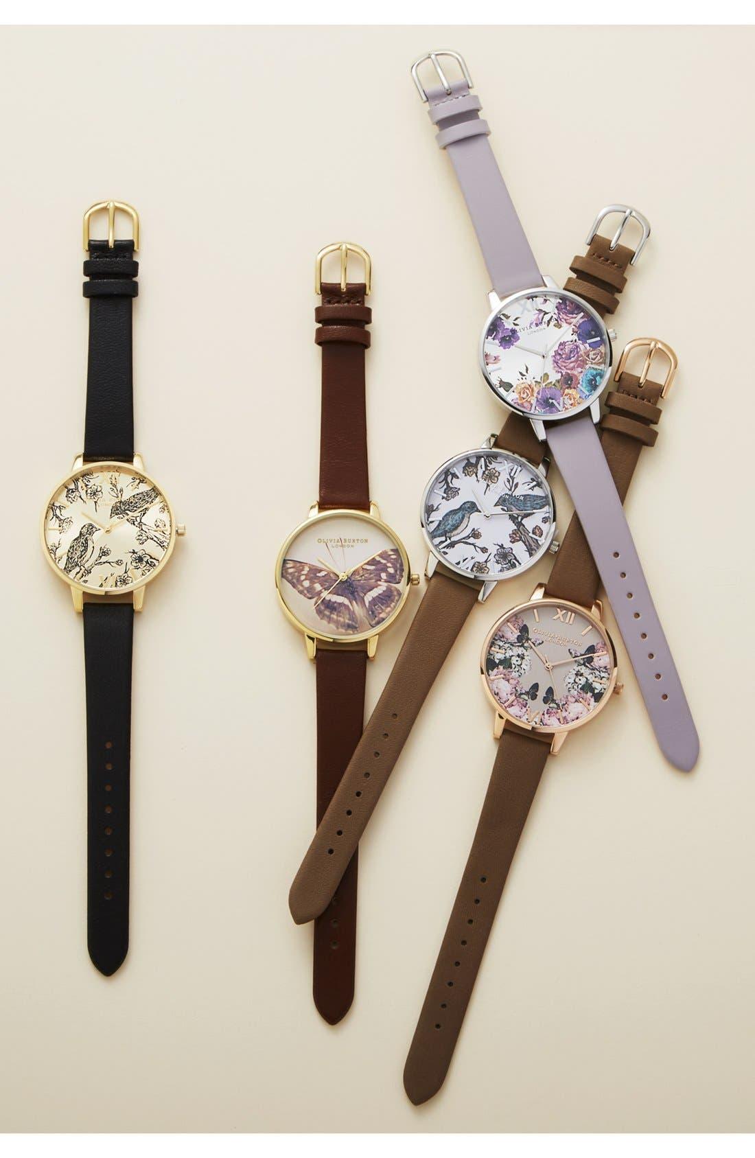 Alternate Image 5  - Olivia Burton 'Animal Motif' Leather Strap Watch, 38mm