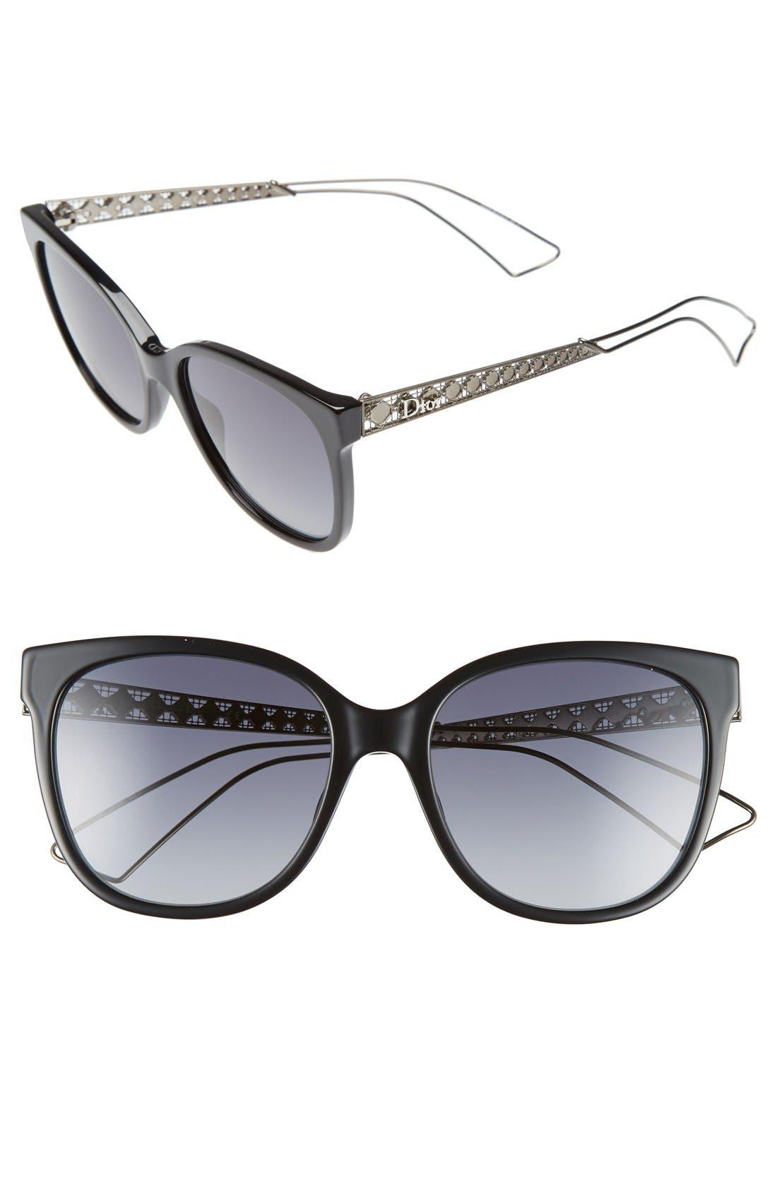 Dior Diorama 3 55mm Cat Eye Sunglasses