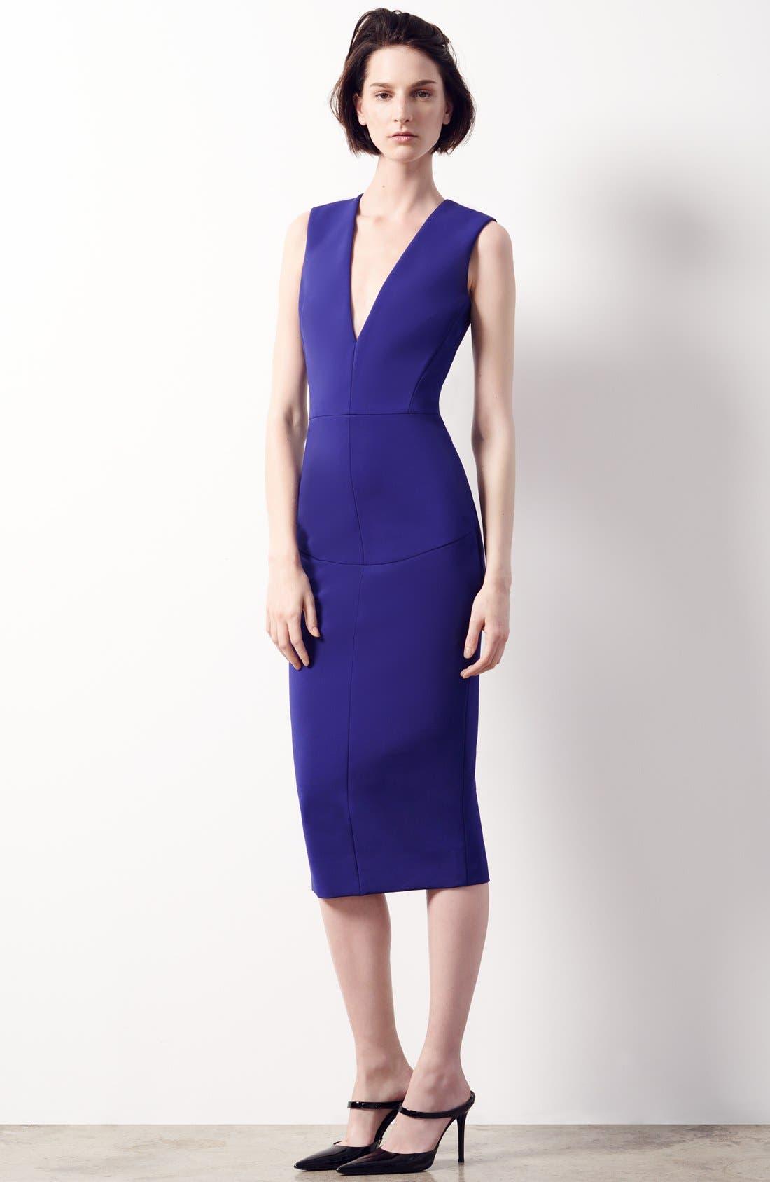 Alternate Image 6  - Victoria Beckham Plunging V-Neck Sheath Dress