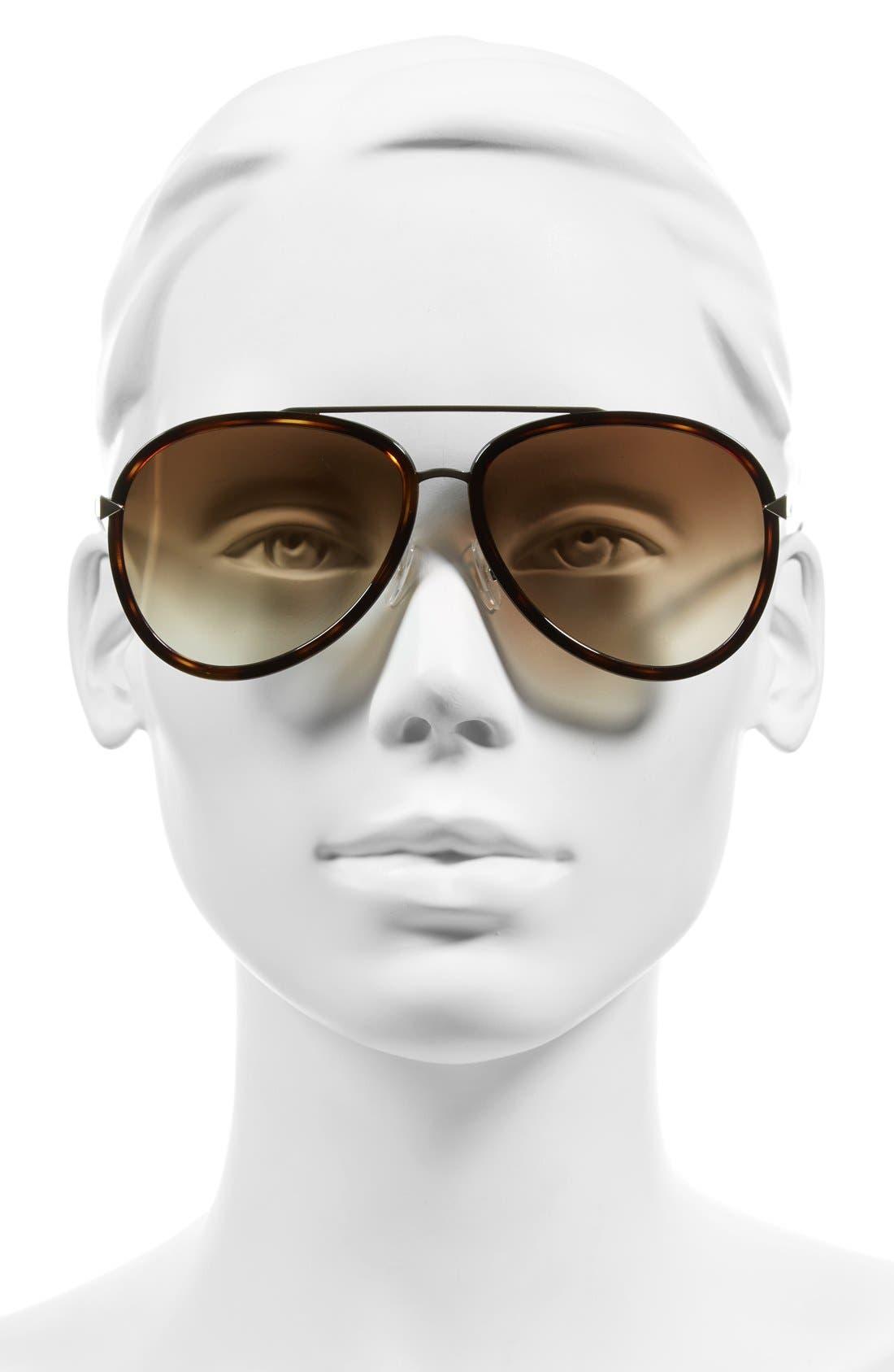 Alternate Image 2  - Fendi 57mm Aviator Sunglasses