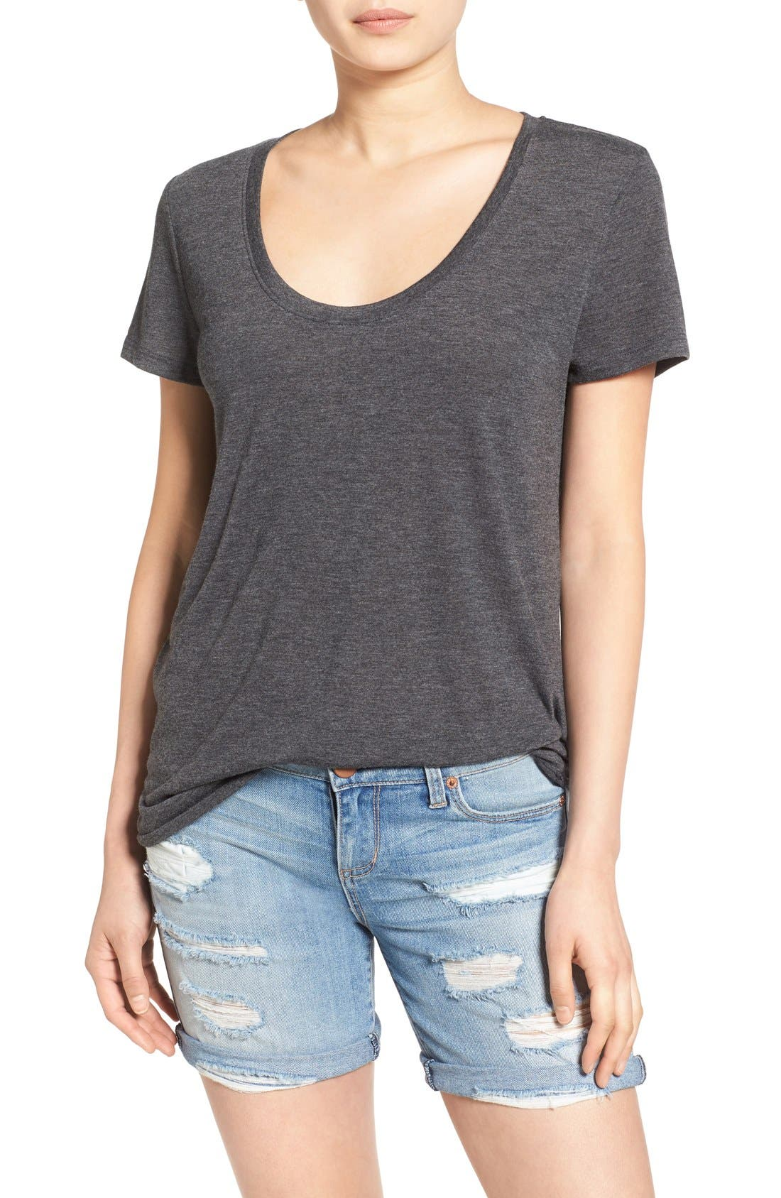 Main Image - BP. Scoop Neck Boyfriend Tee (2 for $28)