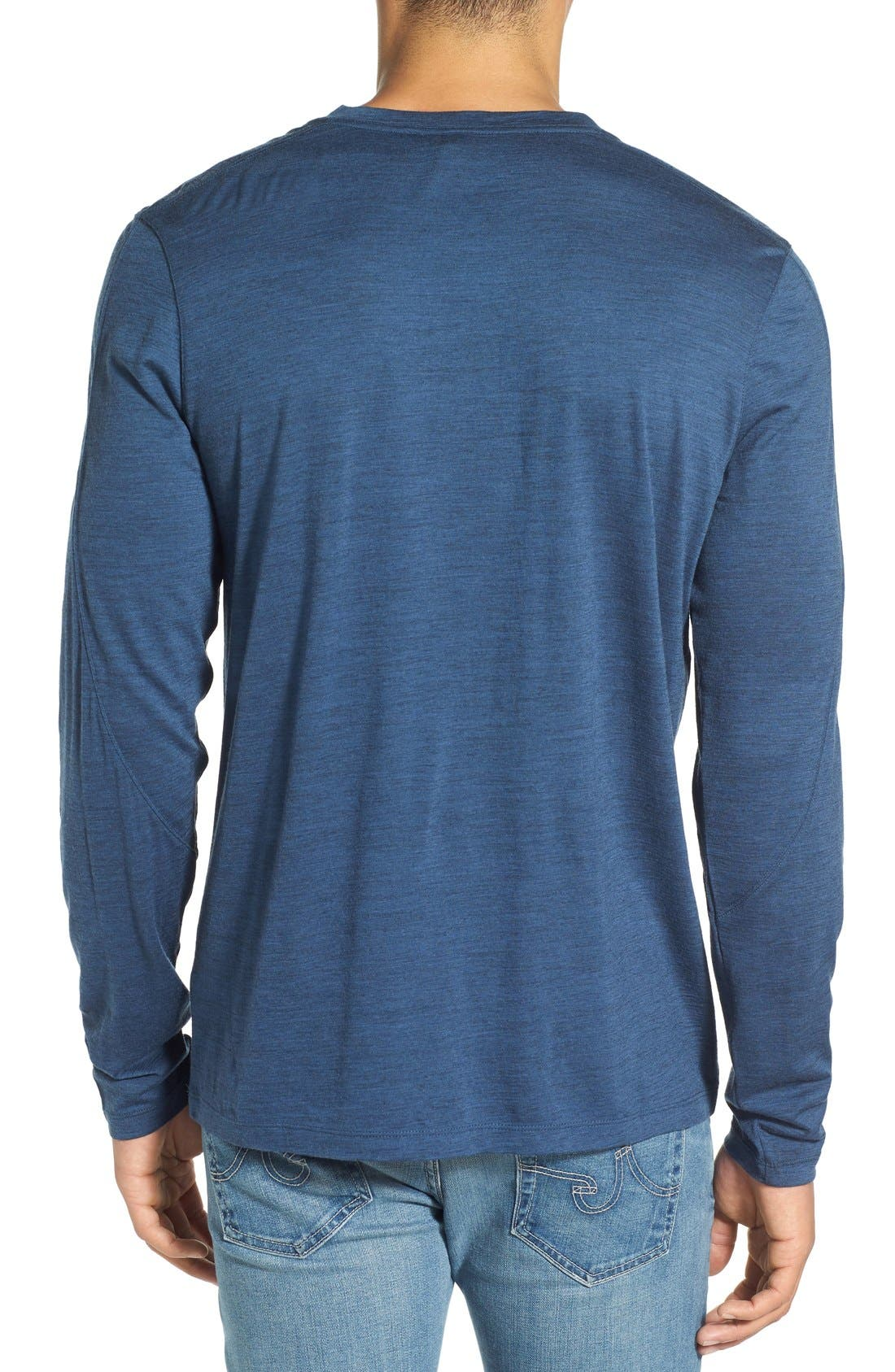 Alternate Image 2  - ibex 'OD' Merino Wool Long Sleeve Crewneck T-Shirt