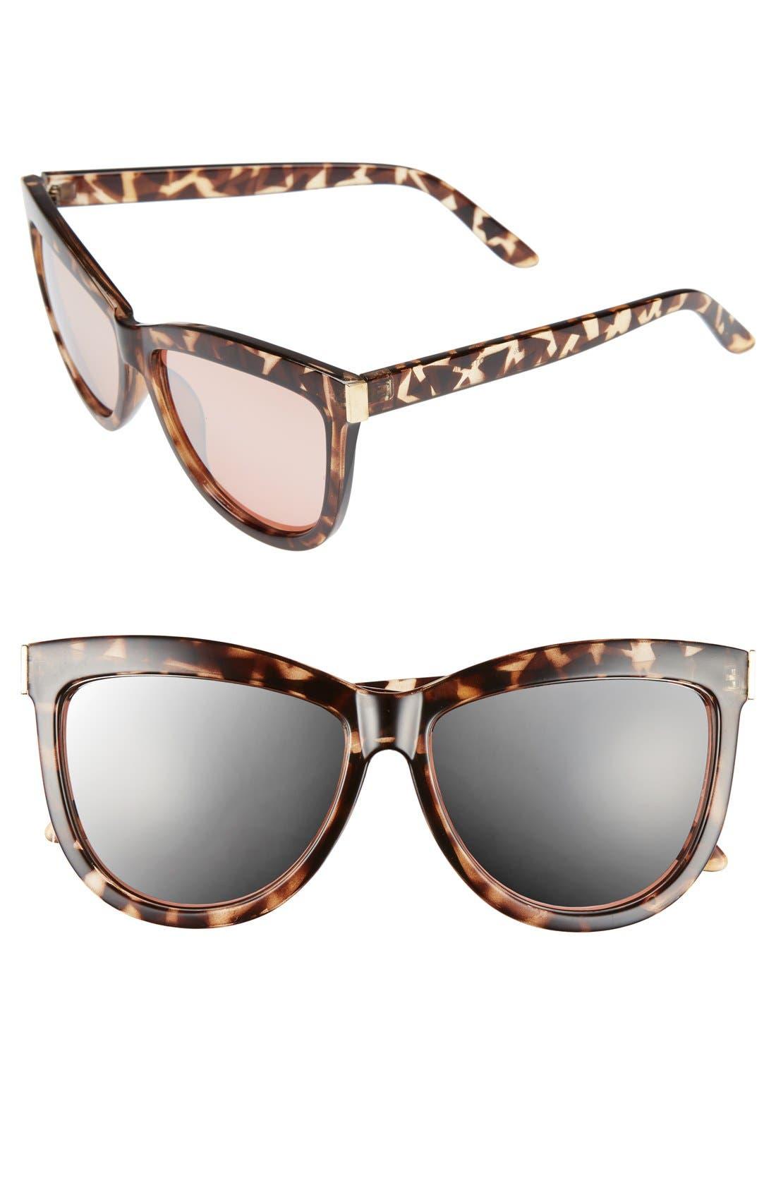 Main Image - BP. 58mm Mirror Cat Eye Sunglasses