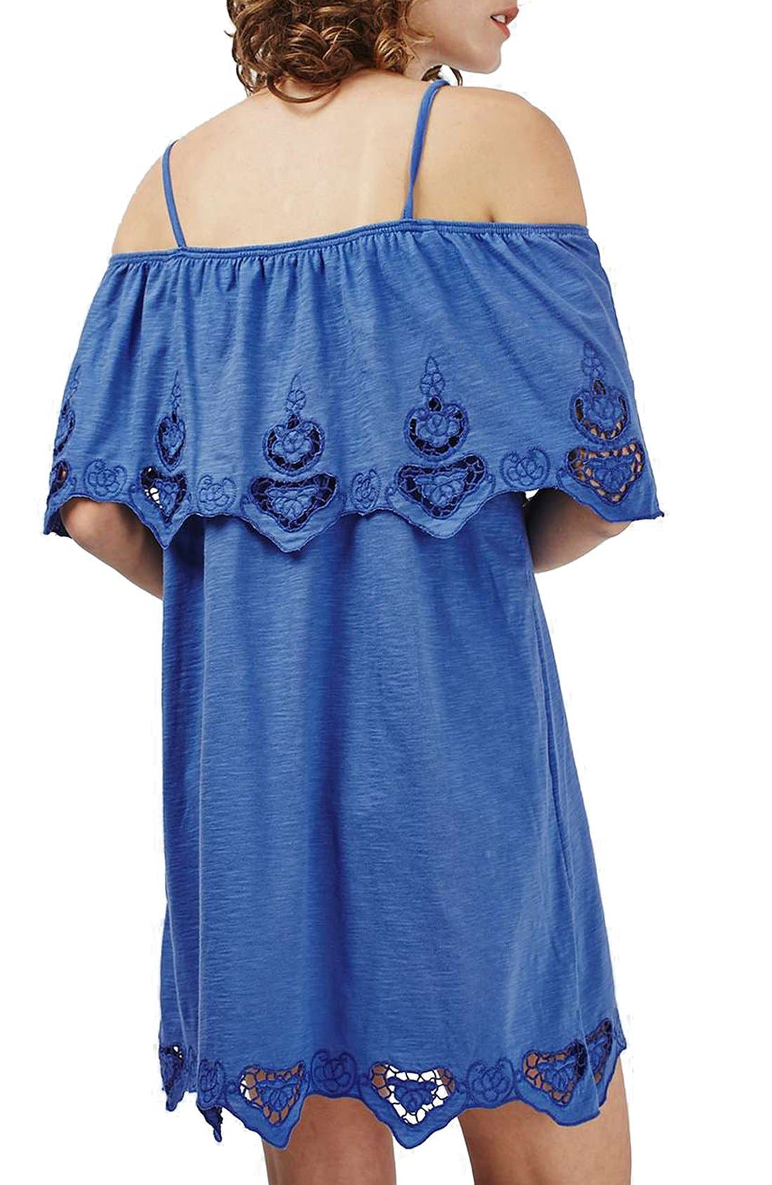 Alternate Image 2  - Topshop Cutwork Trim Strappy Sundress (Regular & Petite)