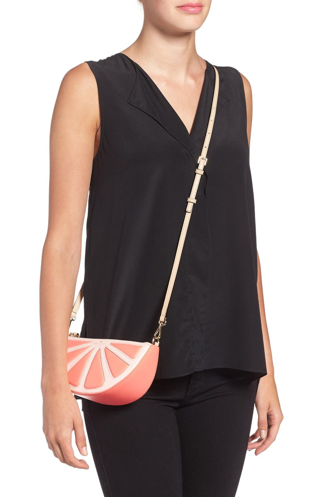Alternate Image 2  - kate spade new york 'flights of fancy' grapefruit crossbody bag