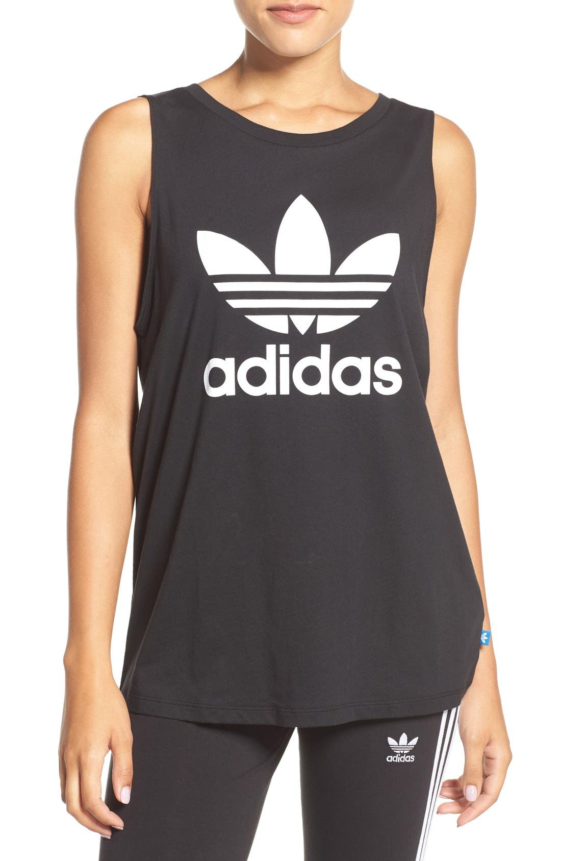 ADIDAS Originals Trefoil Logo Relaxed Fit Tank