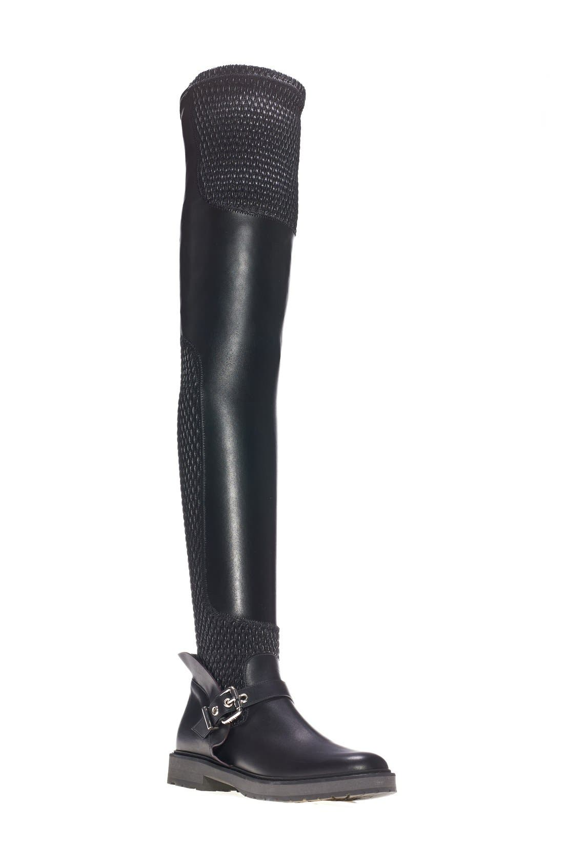 FENDI Over the Knee Motorcycle Boot