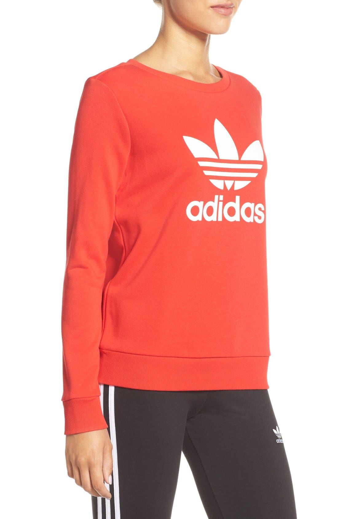 Alternate Image 3  - adidas Logo Crewneck Sweater