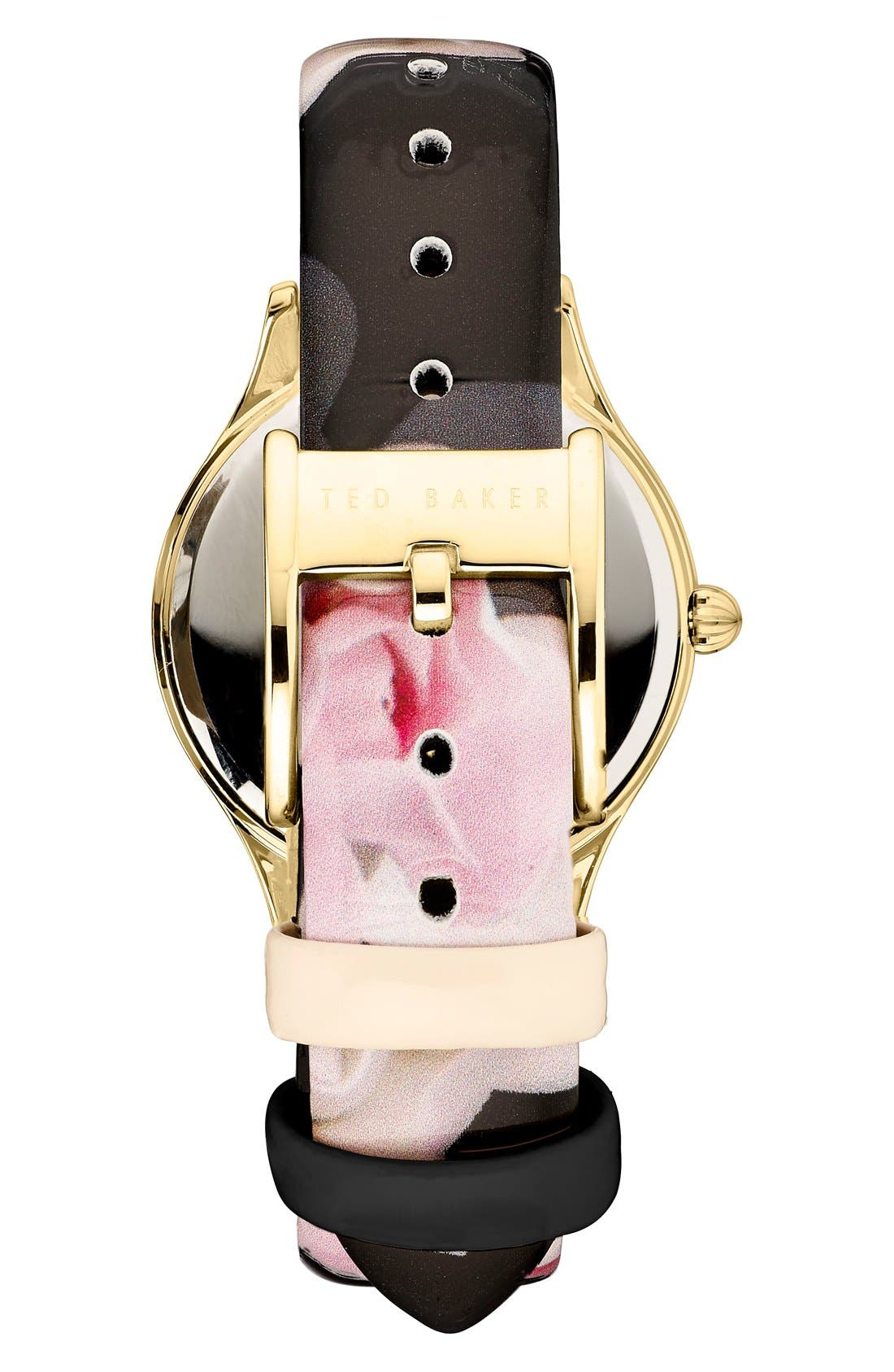 Alternate Image 2  - Ted Baker London 'Dress Sport' Patent Leather Strap Watch, 32mm