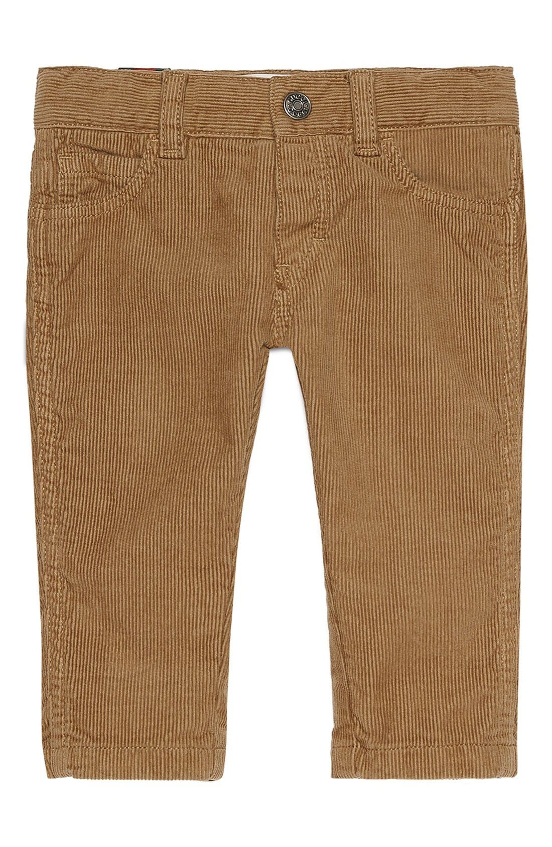 GUCCI Bee Detailed Corduroy Pants