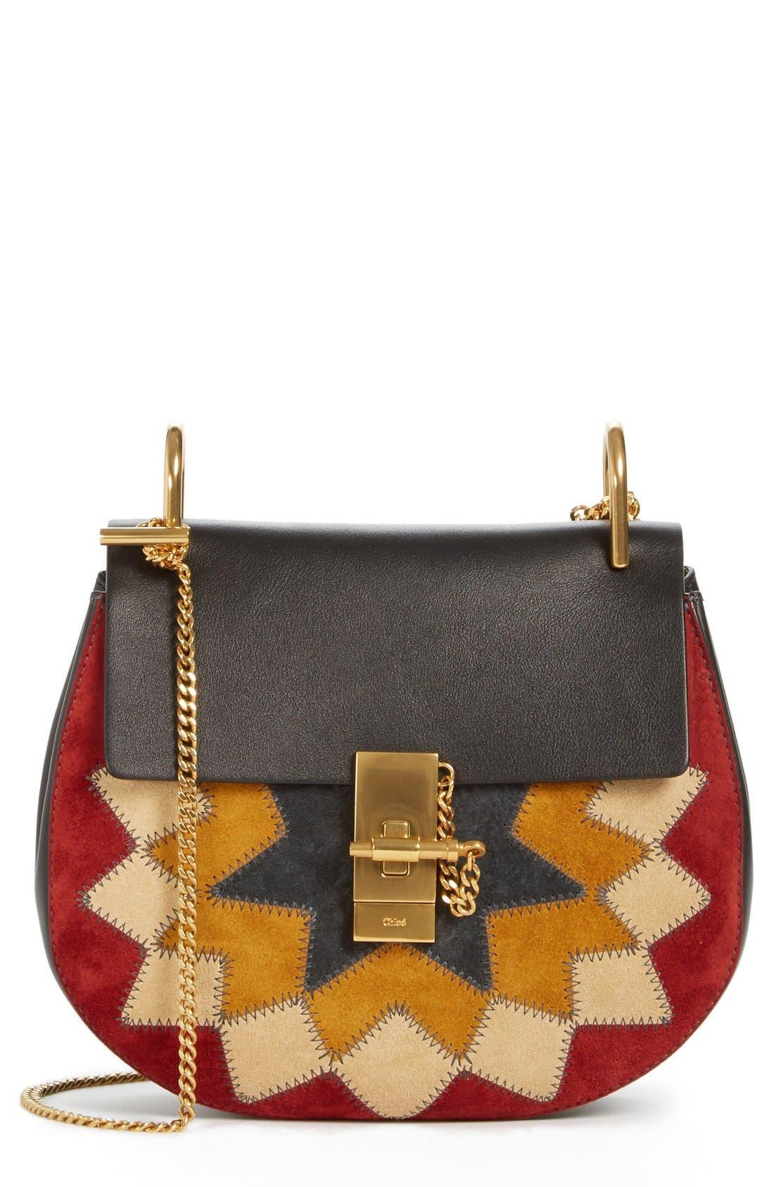 Alternate Image 1 Selected - Chloé 'Small Drew' Wonder Woman Patchwork Suede & Leather Shoulder Bag