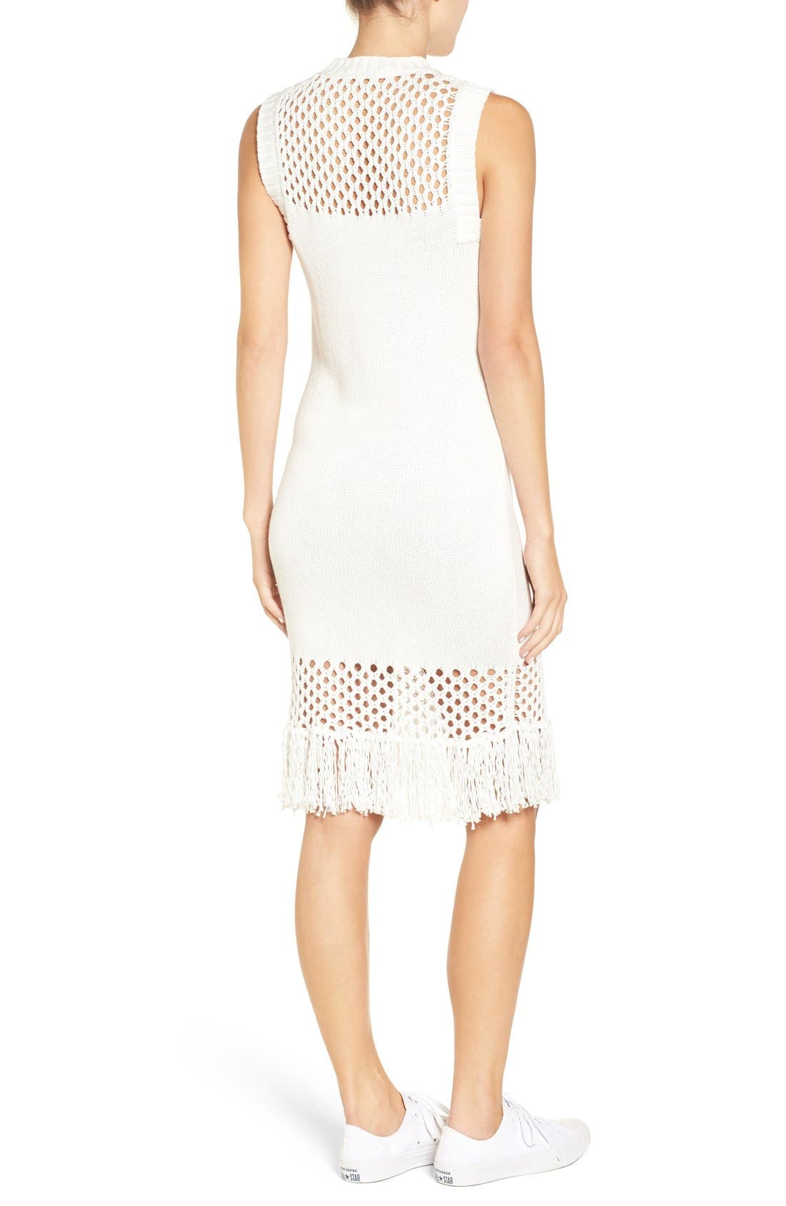 Alternate Image 2  - Amour Vert 'Helen' Illusion Knit Cotton Dress