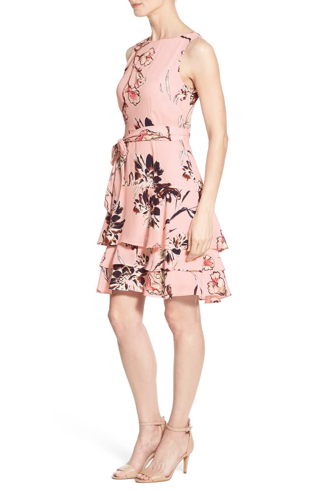 Alternate Image 4  - Ivanka Trump Floral Print Tiered A-Line Dress