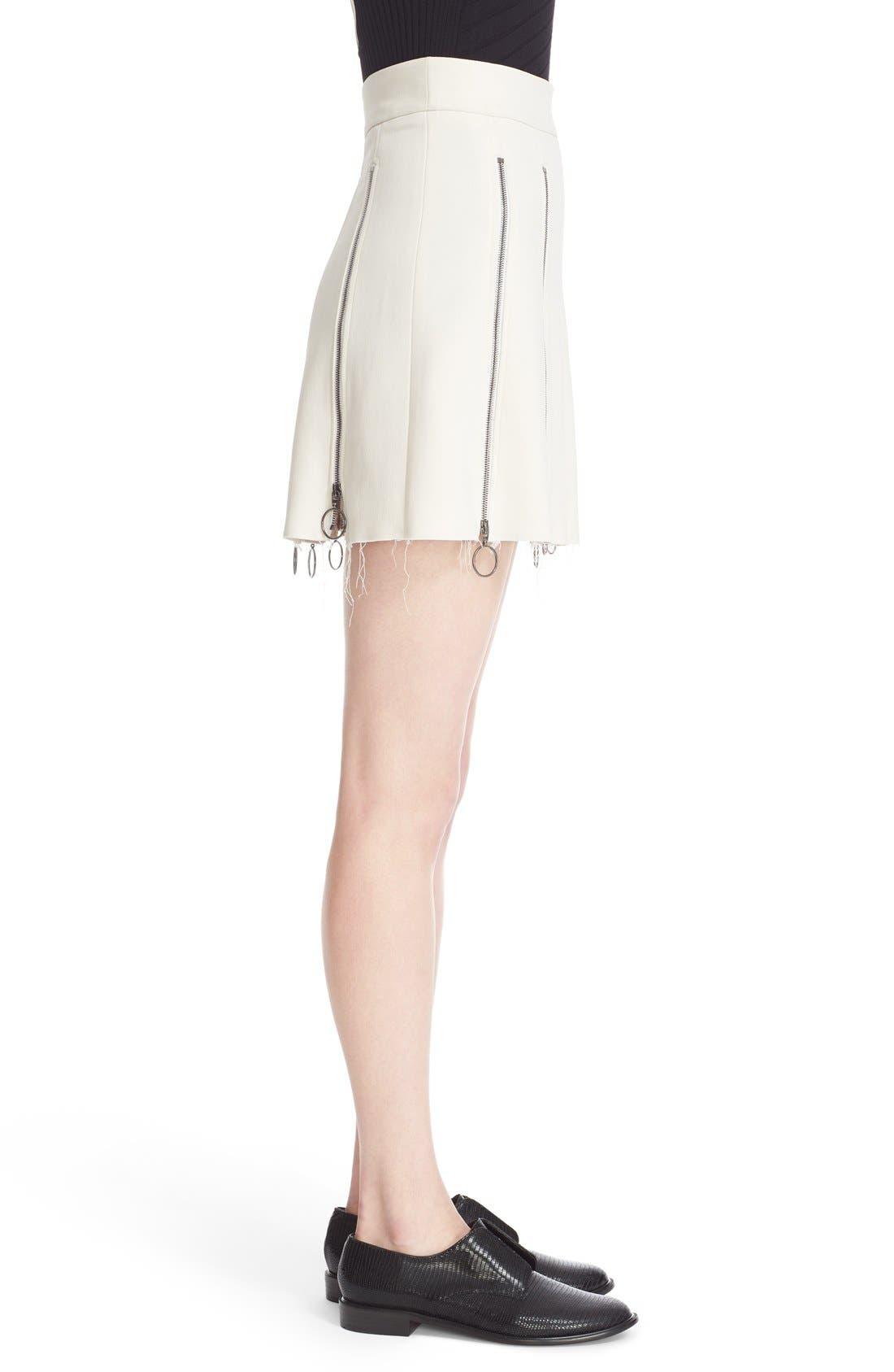 Alternate Image 5  - Etienne Deroeux 'Tania' Zip Detail Miniskirt