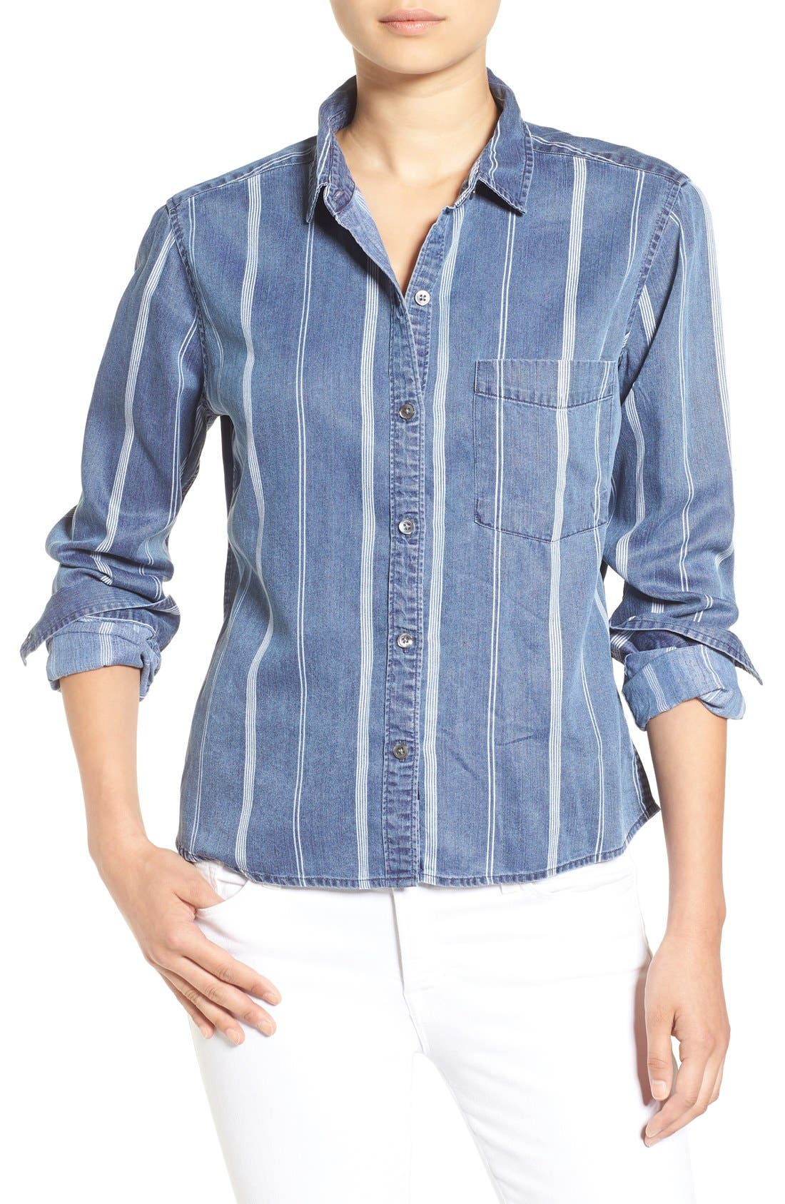 Alternate Image 1 Selected - Rails 'Dana' Stripe Chambray Shirt