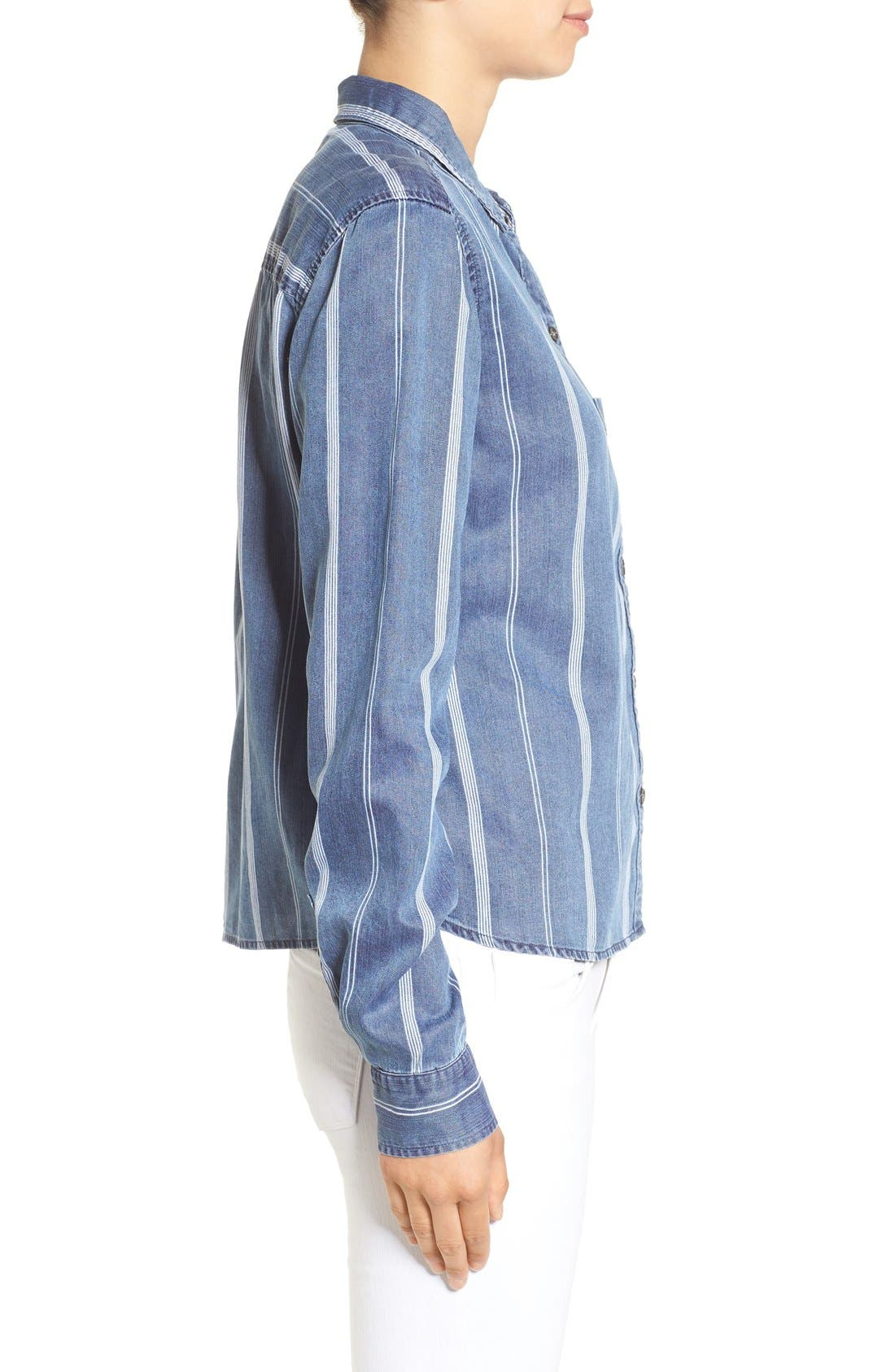 Alternate Image 3  - Rails 'Dana' Stripe Chambray Shirt