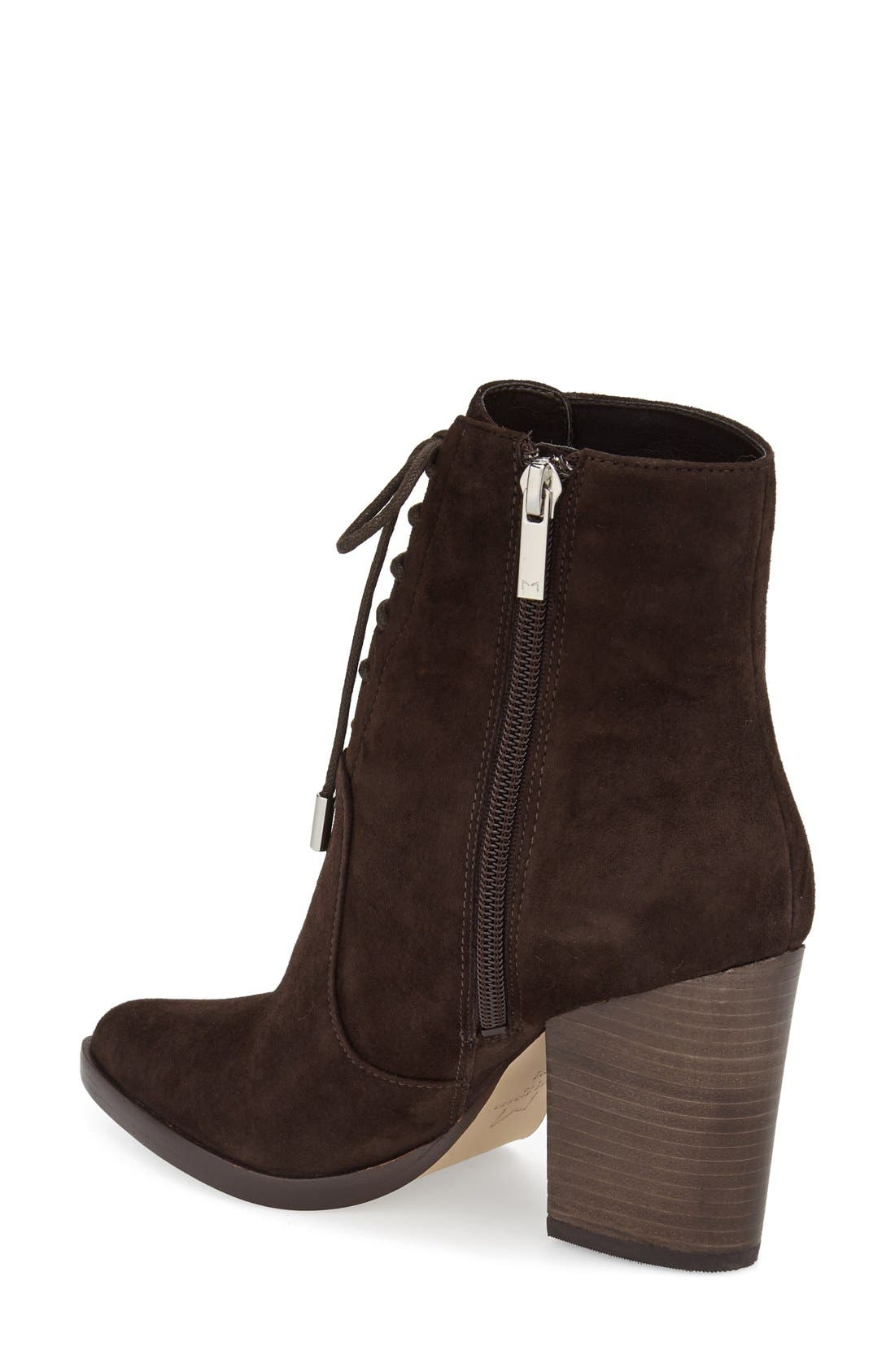 Alternate Image 2  - Marc Fisher LTD Aaliyah Pointy Toe Lace-Up Bootie (Women)