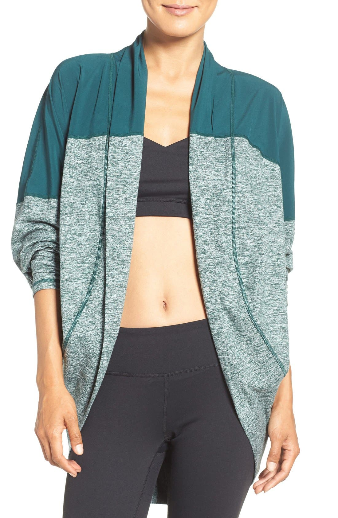 Alternate Image 1 Selected - Zella Reversible Colorblock Cocoon Cardigan