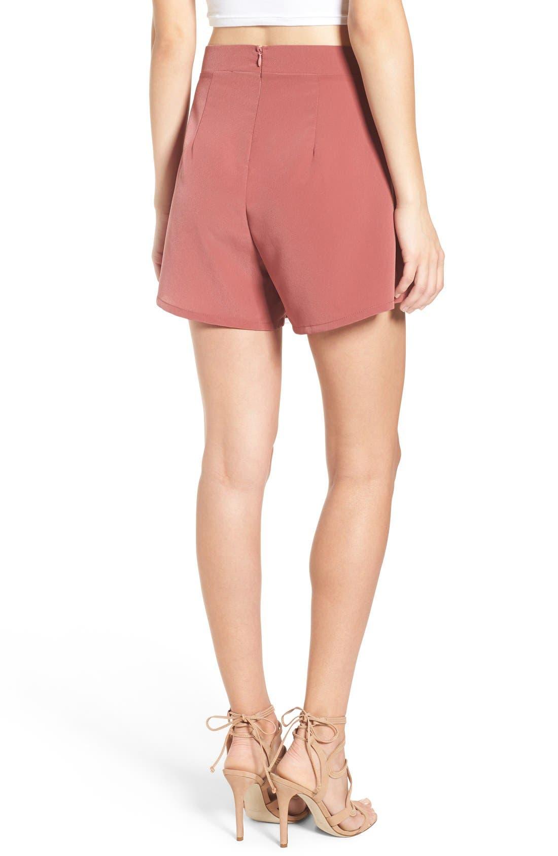 Alternate Image 3  - Leith Pleated High Waist Shorts