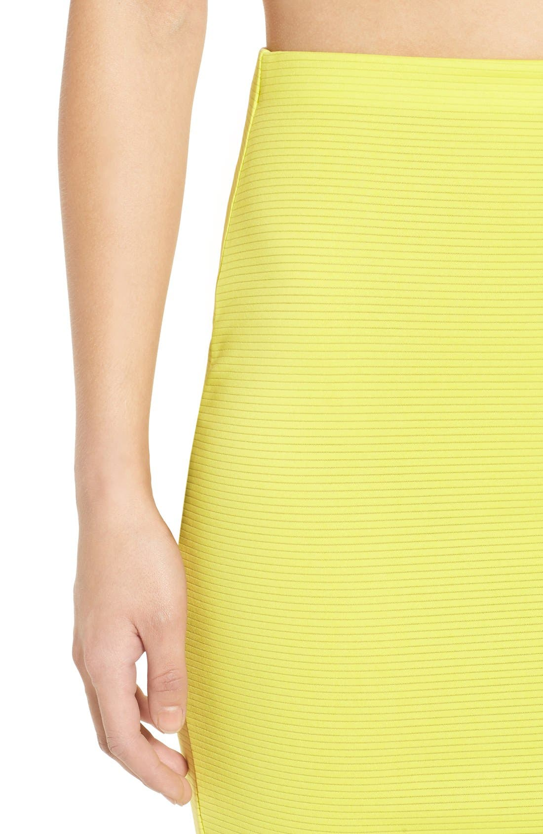 Alternate Image 6  - Missguided Ribbed Midi Skirt