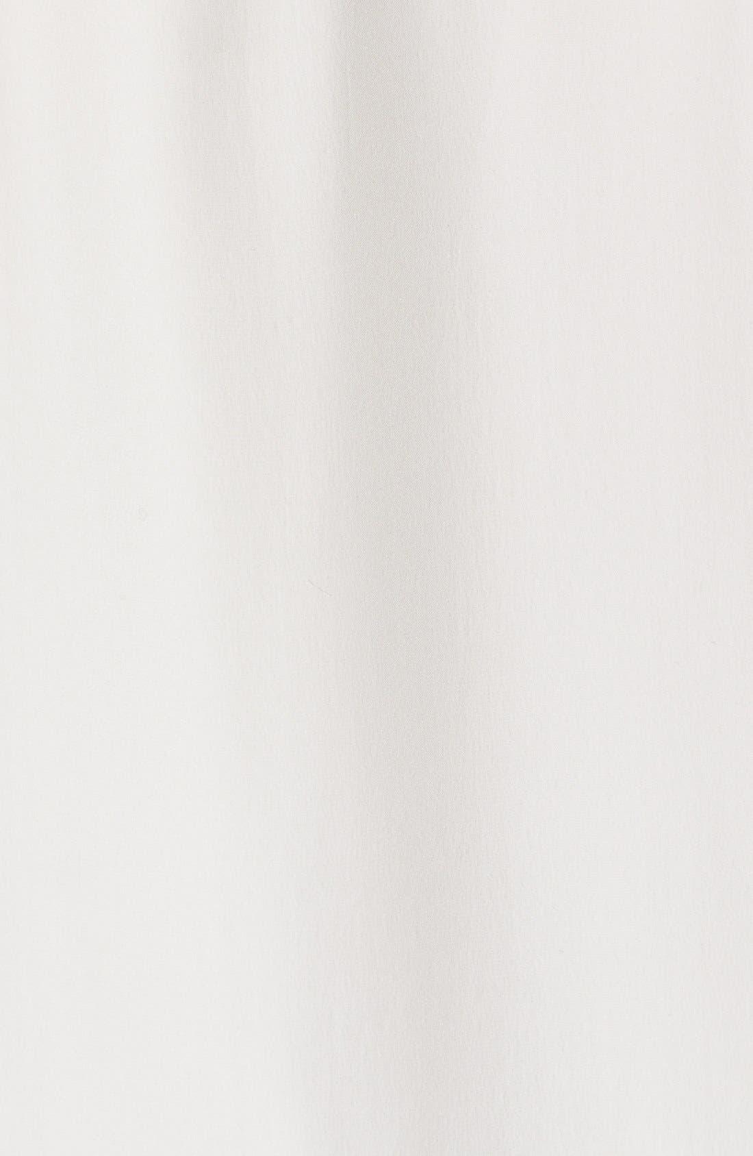 Alternate Image 5  - FRAME Sleeveless Ruffle Tie Neck Silk Blouse