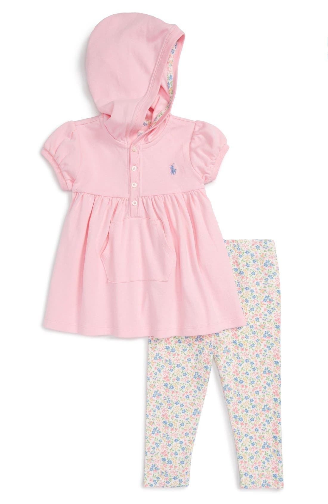 Ralph Lauren Hooded Top & Leggings Set (Baby Girls)