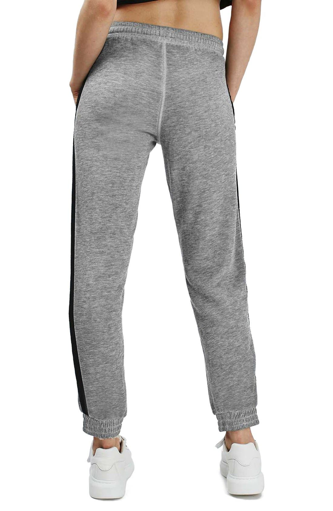 Alternate Image 3  - Topshop Side Stripe Burnout Jogger Pants