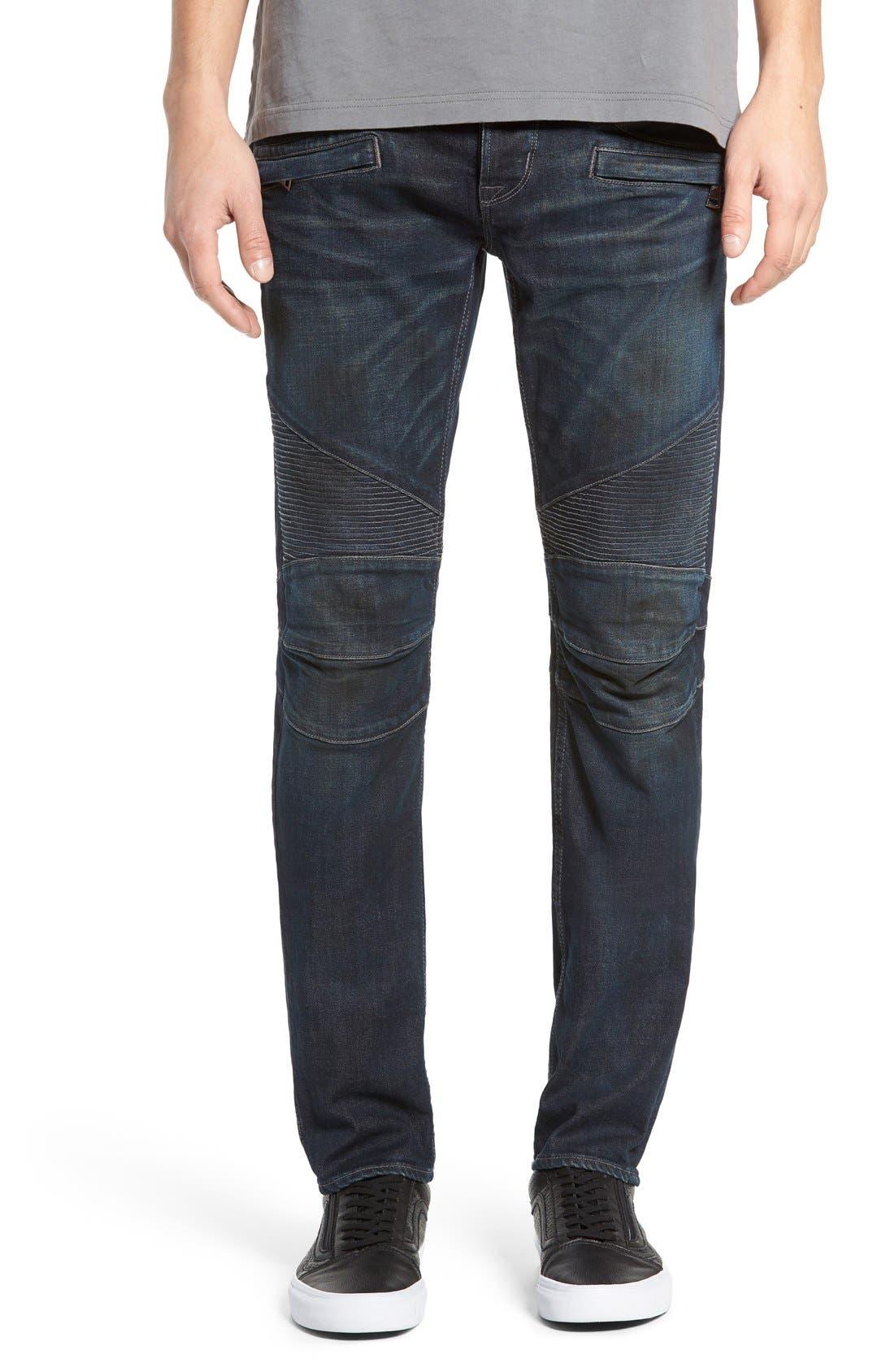 HUDSON JEANS 'Blinder' Skinny Fit Moto Jeans