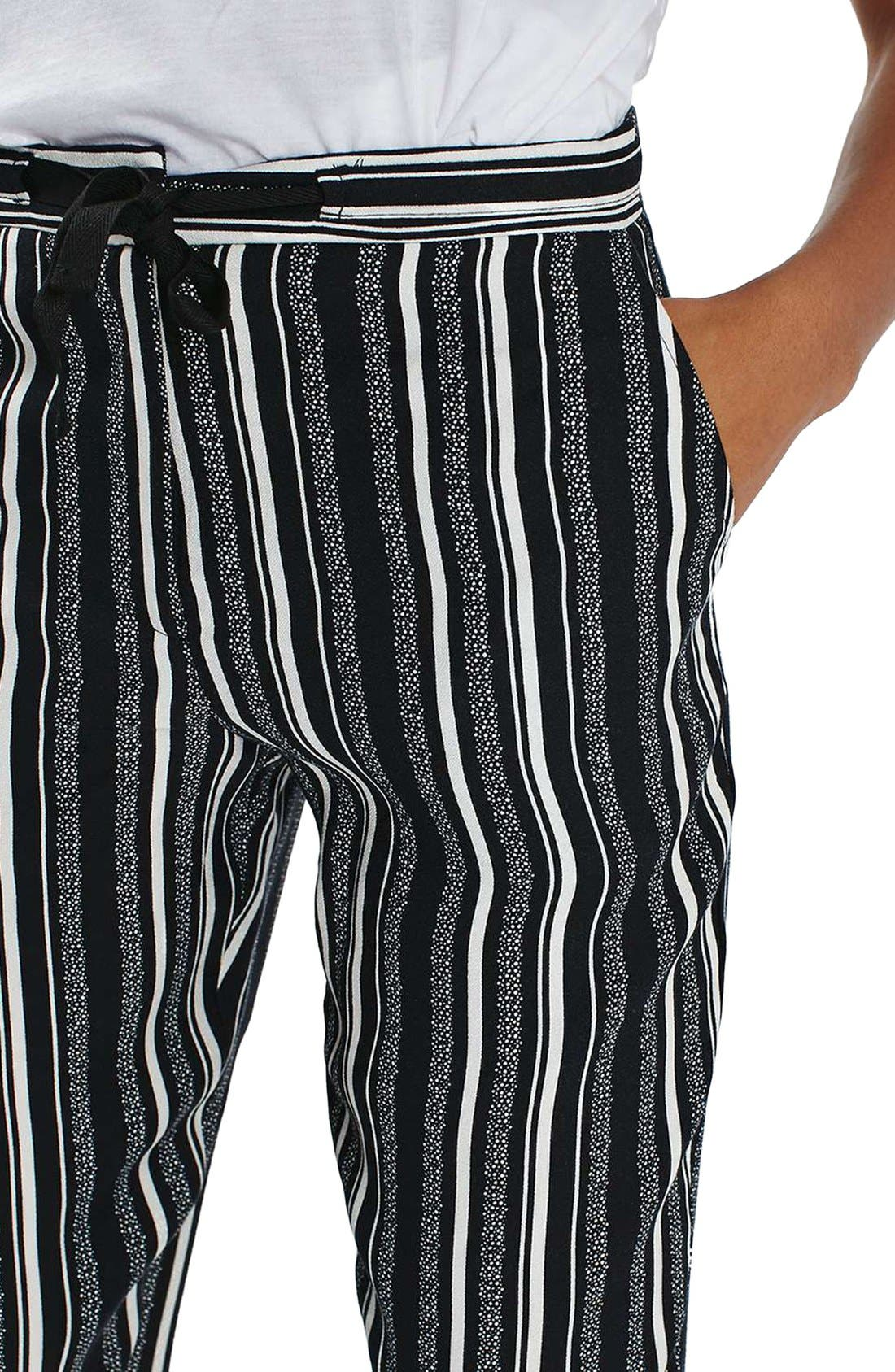 Alternate Image 5  - Topshop Stripe Tapered Slouch Pants