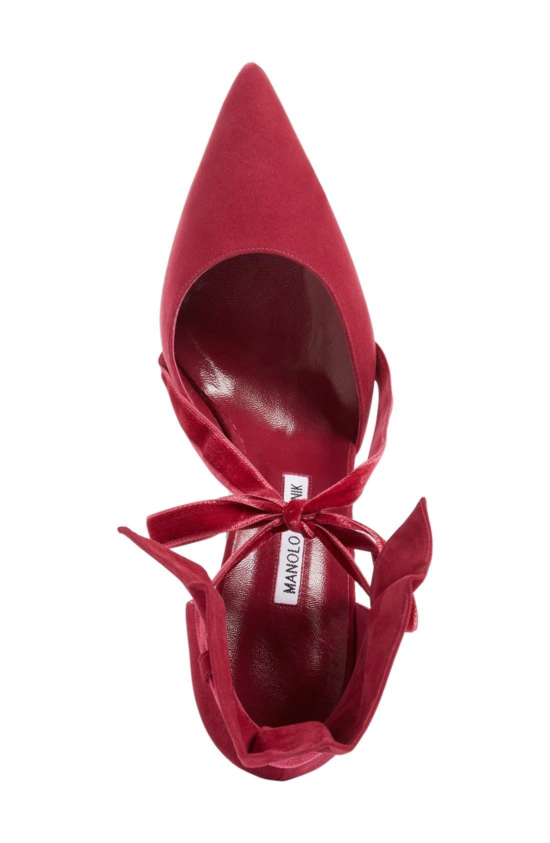 Alternate Image 3  - Manolo Blahnik 'Petaseta' Ankle Tie Pump (Women)