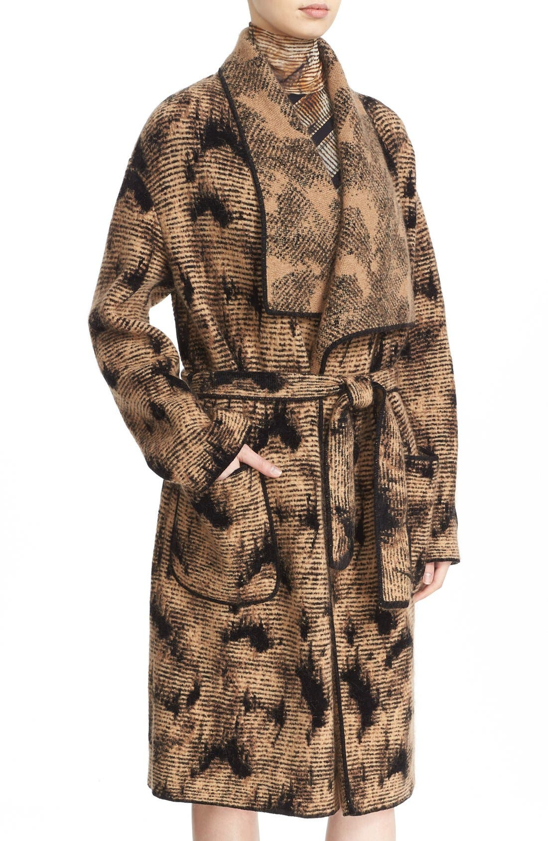 Alternate Image 6  - Fuzzi Jacquard Knit Coat