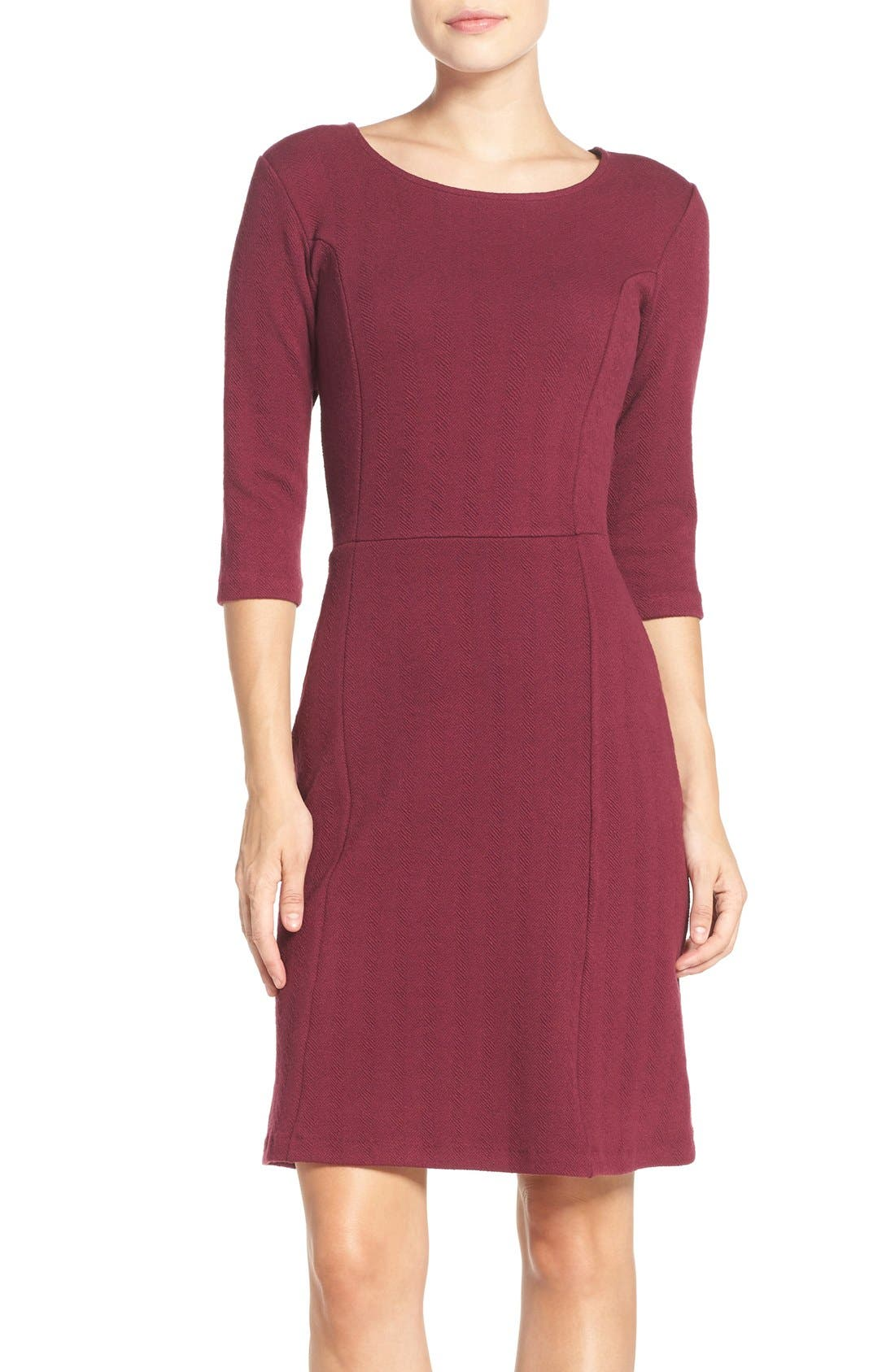 Leota 'Avery' Jacquard Knit Sheath Dress