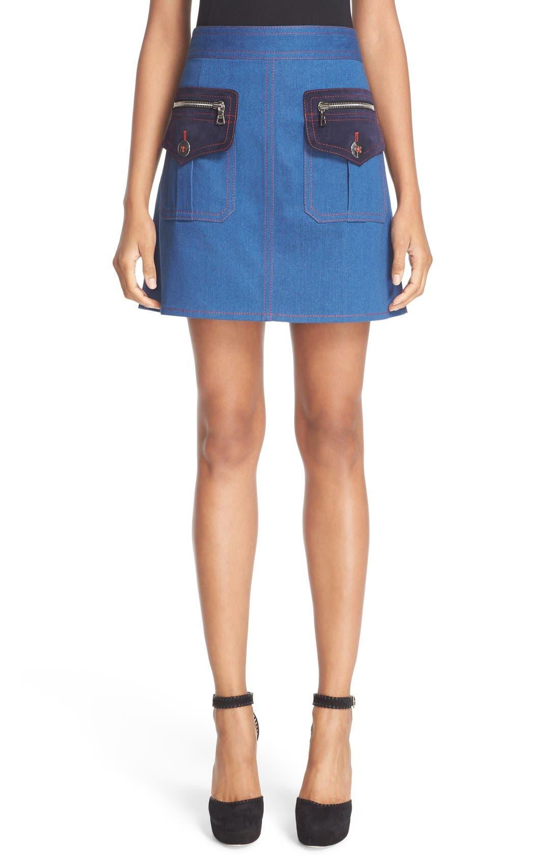 Alternate Image 1 Selected - MARC JACOBS Patch Pocket Denim Skirt