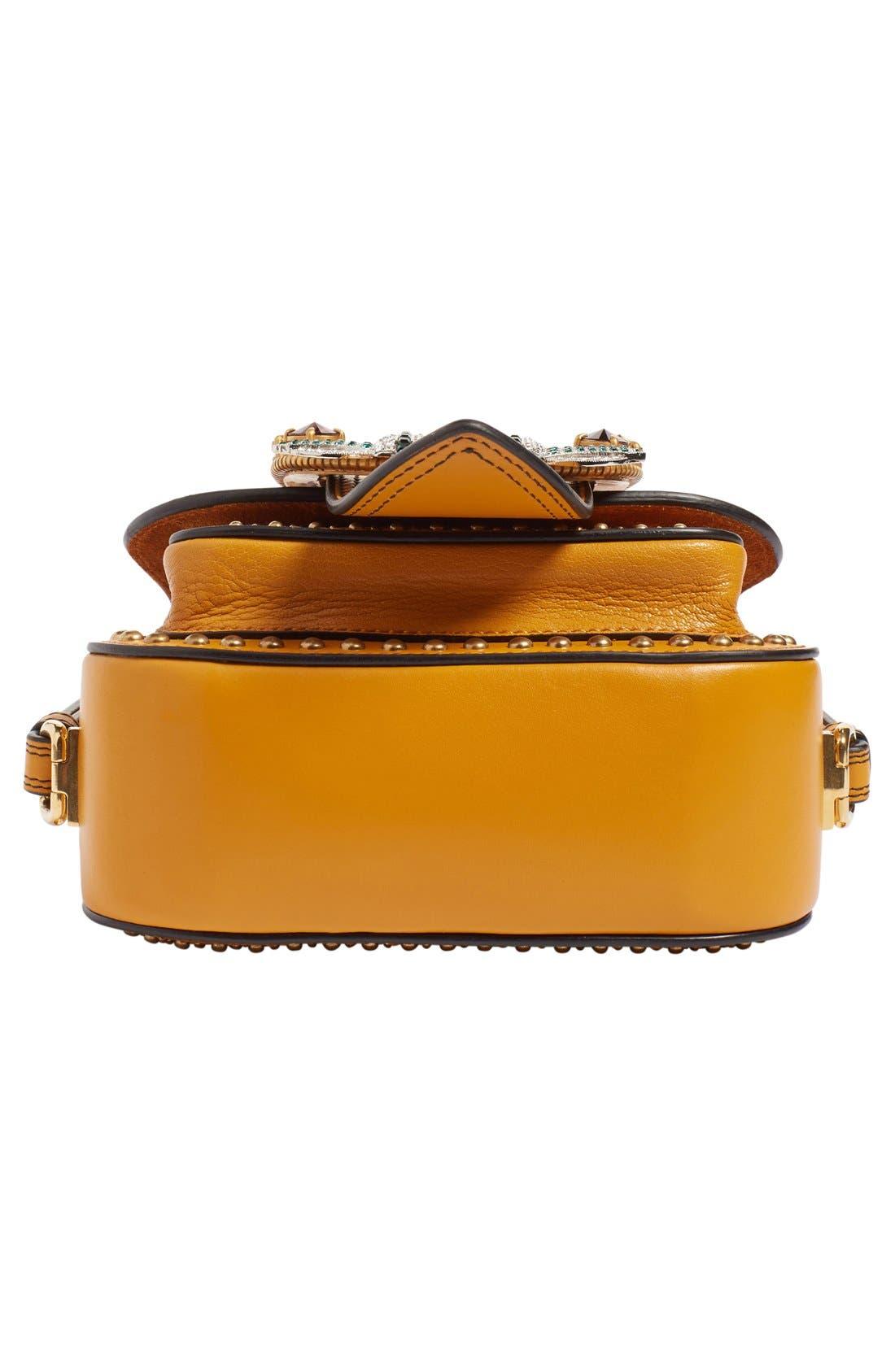 Alternate Image 5  - Miu Miu 'Dahlia' Goatskin Leather Saddle Bag