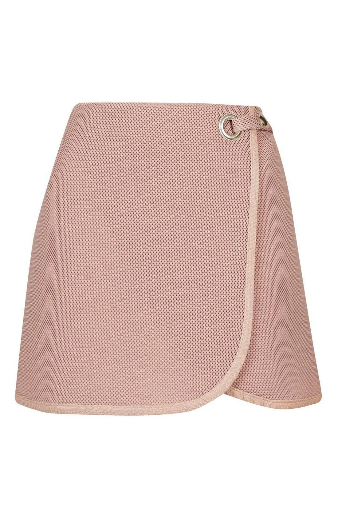 Alternate Image 4  - Topshop Airtex Wrap Miniskirt