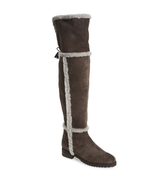 Frye \'Tamara\' Genuine Shearling Over the Knee Boot (Women) | Nordstrom