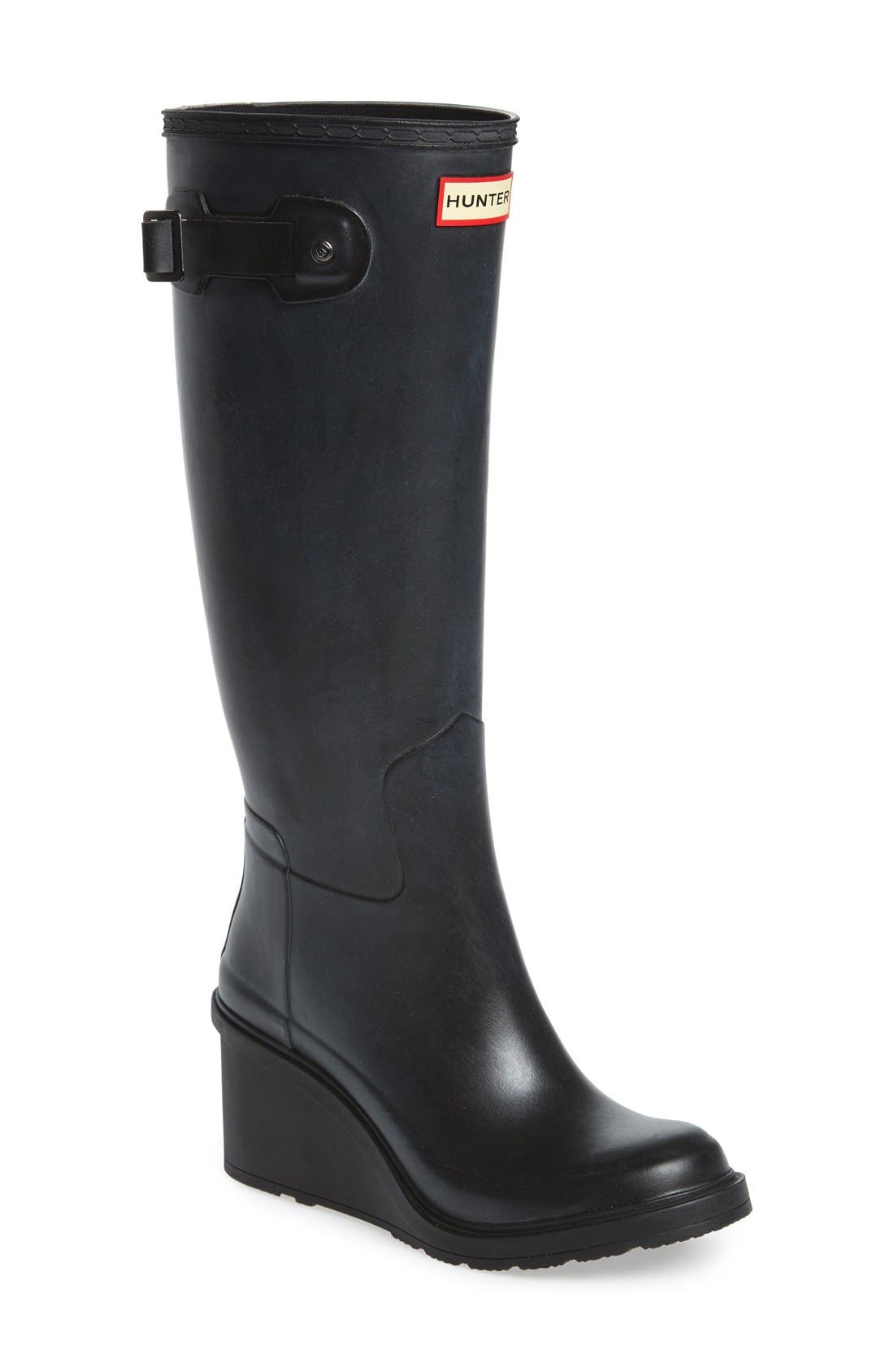Main Image - Hunter Original Refined Wedge Rain Boot (Women)
