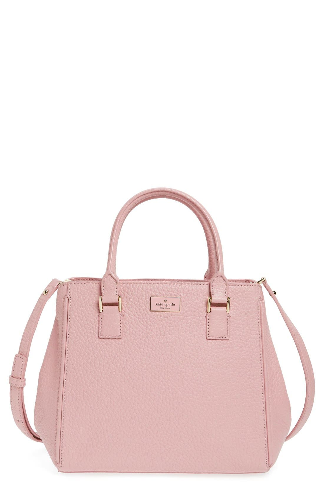 Main Image - kate spade new york 'prospect place - maddie' grainy leather satchel