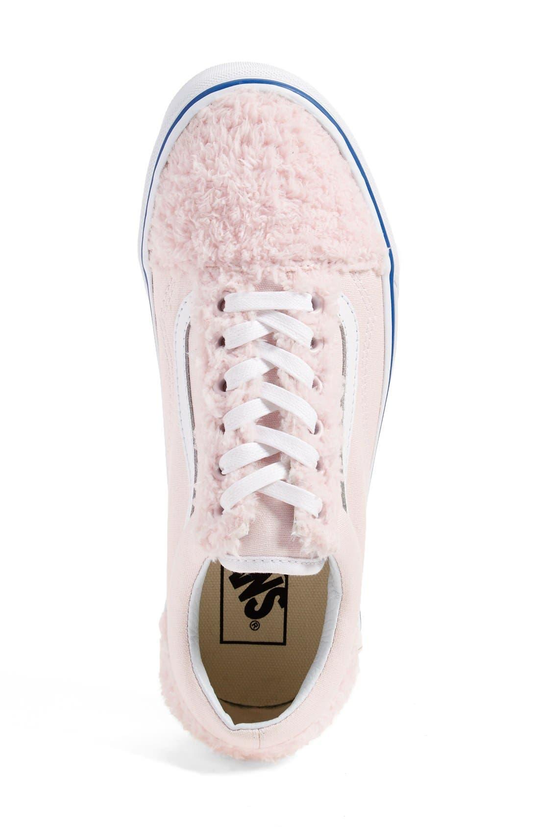 Alternate Image 4  - Vans 'Old Skool' Faux Shearling & Canvas Sneaker (Unisex) (Nordstrom Exclusive)