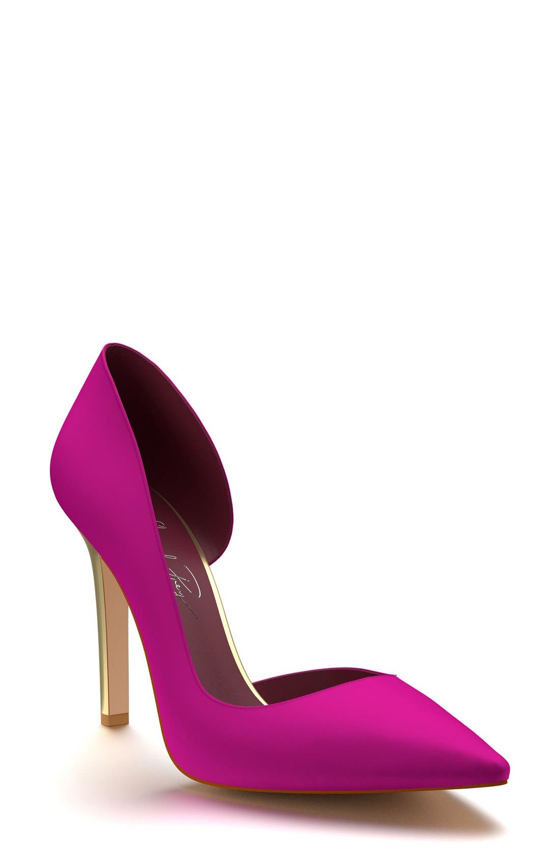 Shoes of Prey Pointy Toe Half d'Orsay Pump (Women)