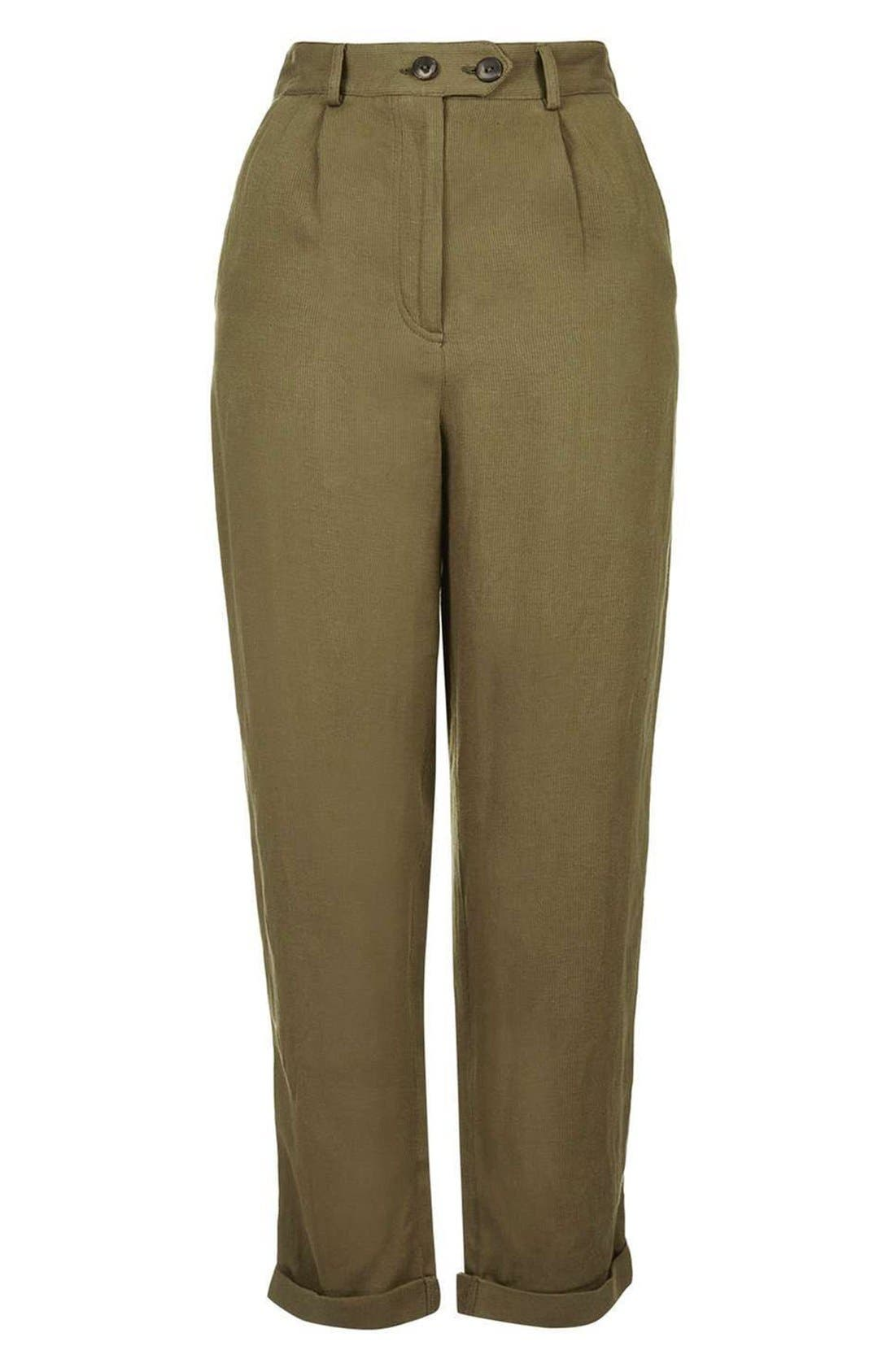 Alternate Image 4  - Topshop 'Mensy' Corduroy Peg Trousers